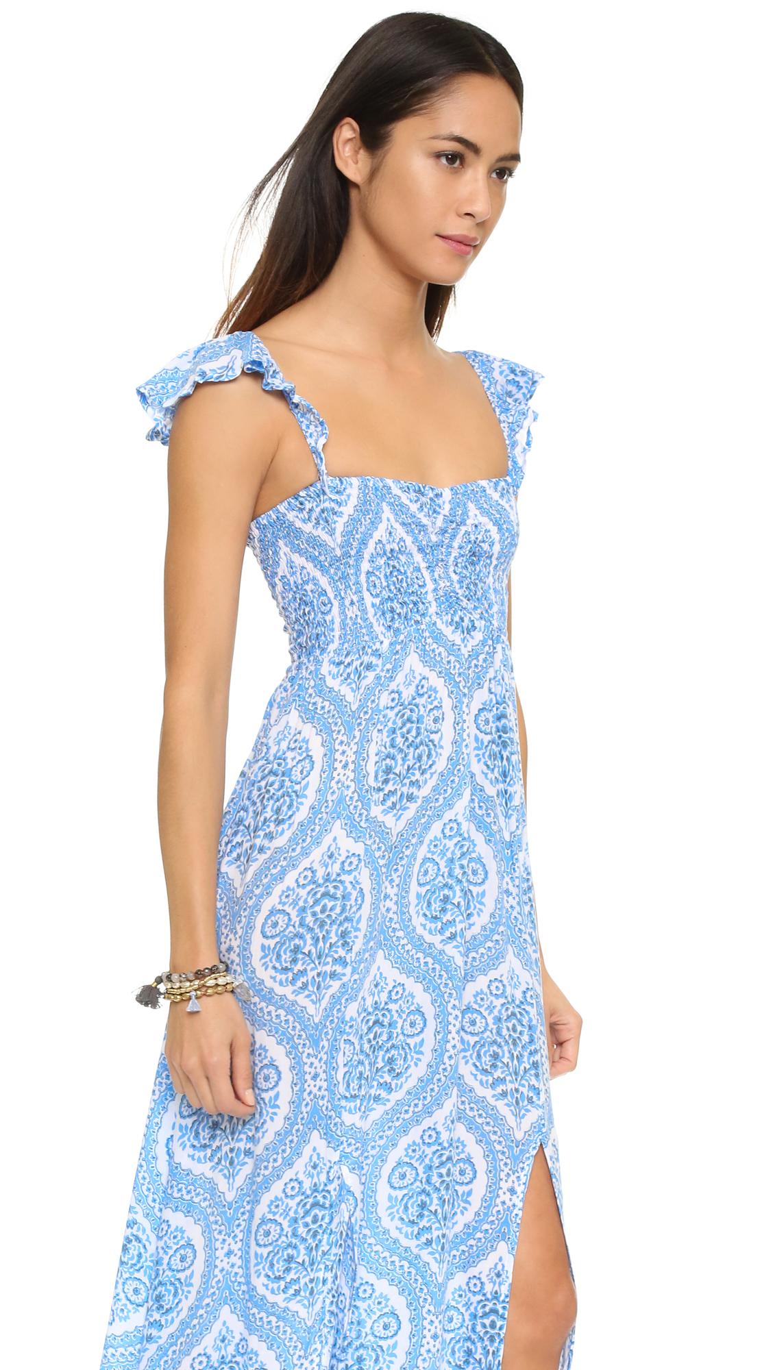 Hollie Maxi Dress in Rose Tiare Hawaii faC0Hr