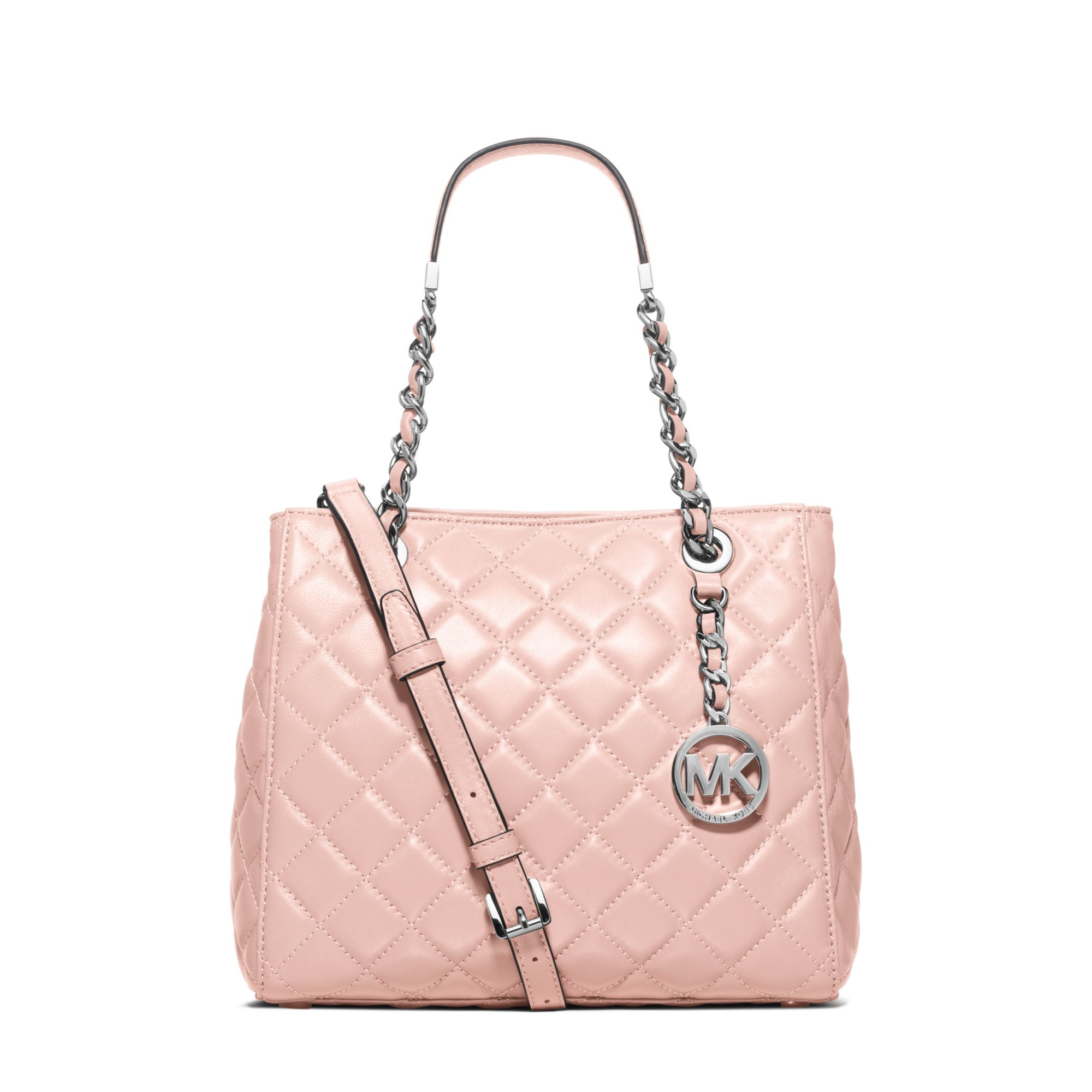 Michael Kors Susannah Small Leather Tote In Pink Lyst