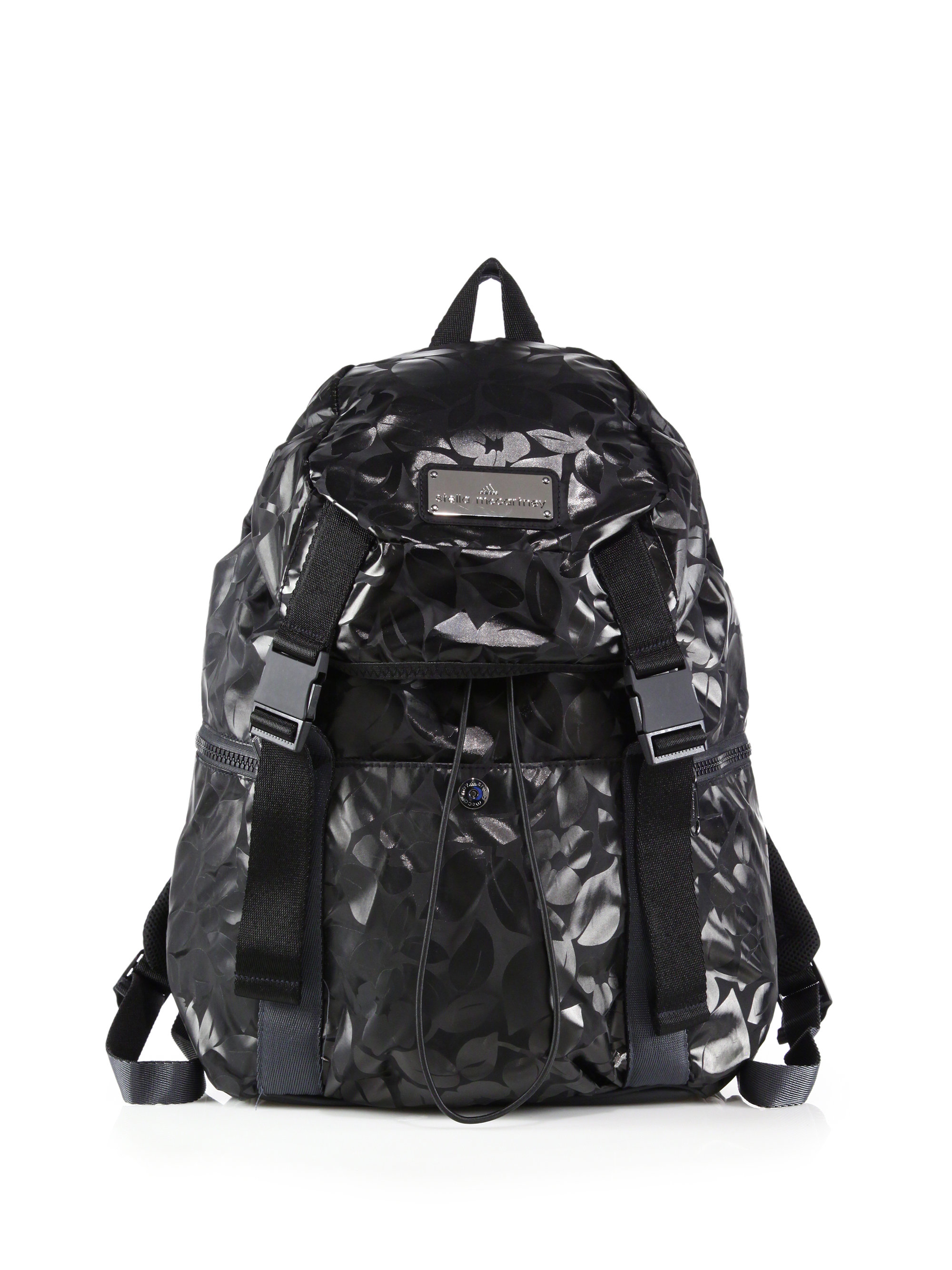33f7e7059f6c Lyst - adidas By Stella McCartney Printed Weekender Backpack in Black