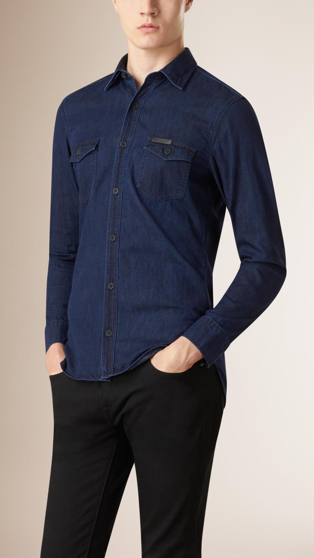 f7bf69d385e Burberry Denim Shirt