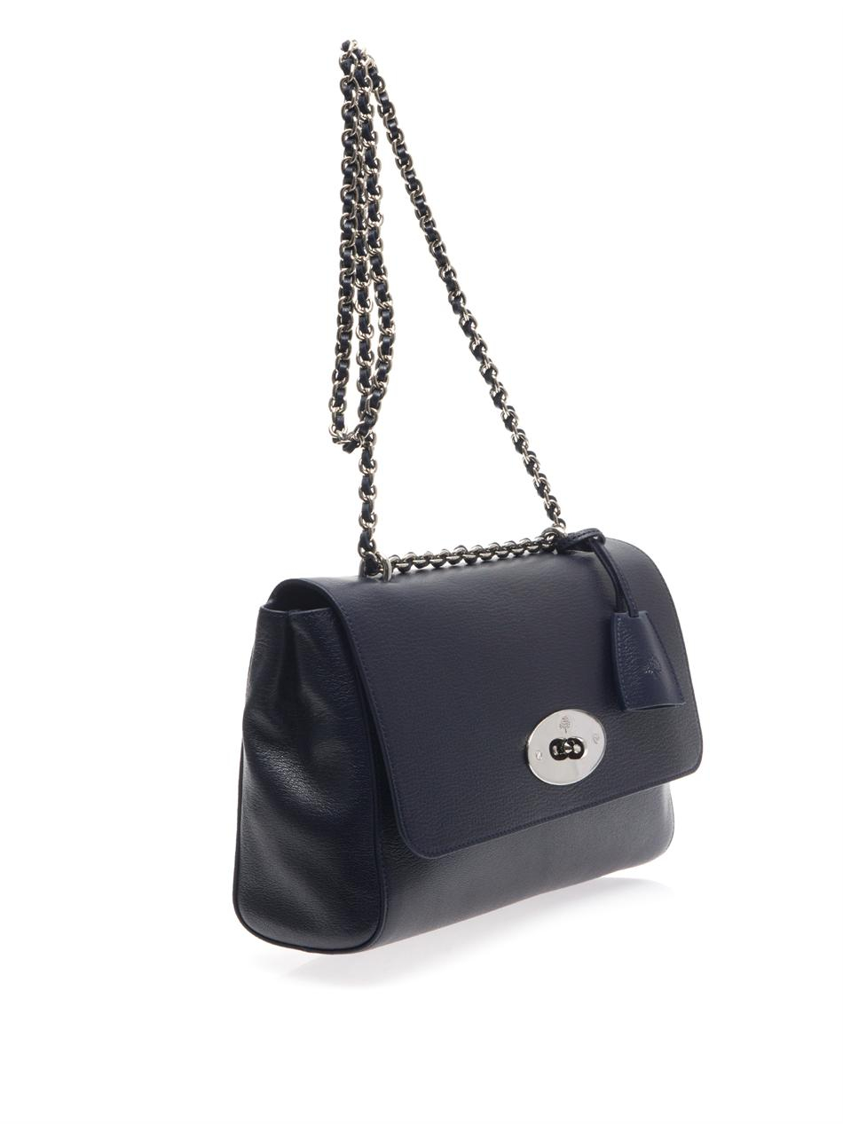 netherlands mulberry lily medium leather crossbody bag in blue lyst 8f5cb  30293 4e92c2a7a44c7