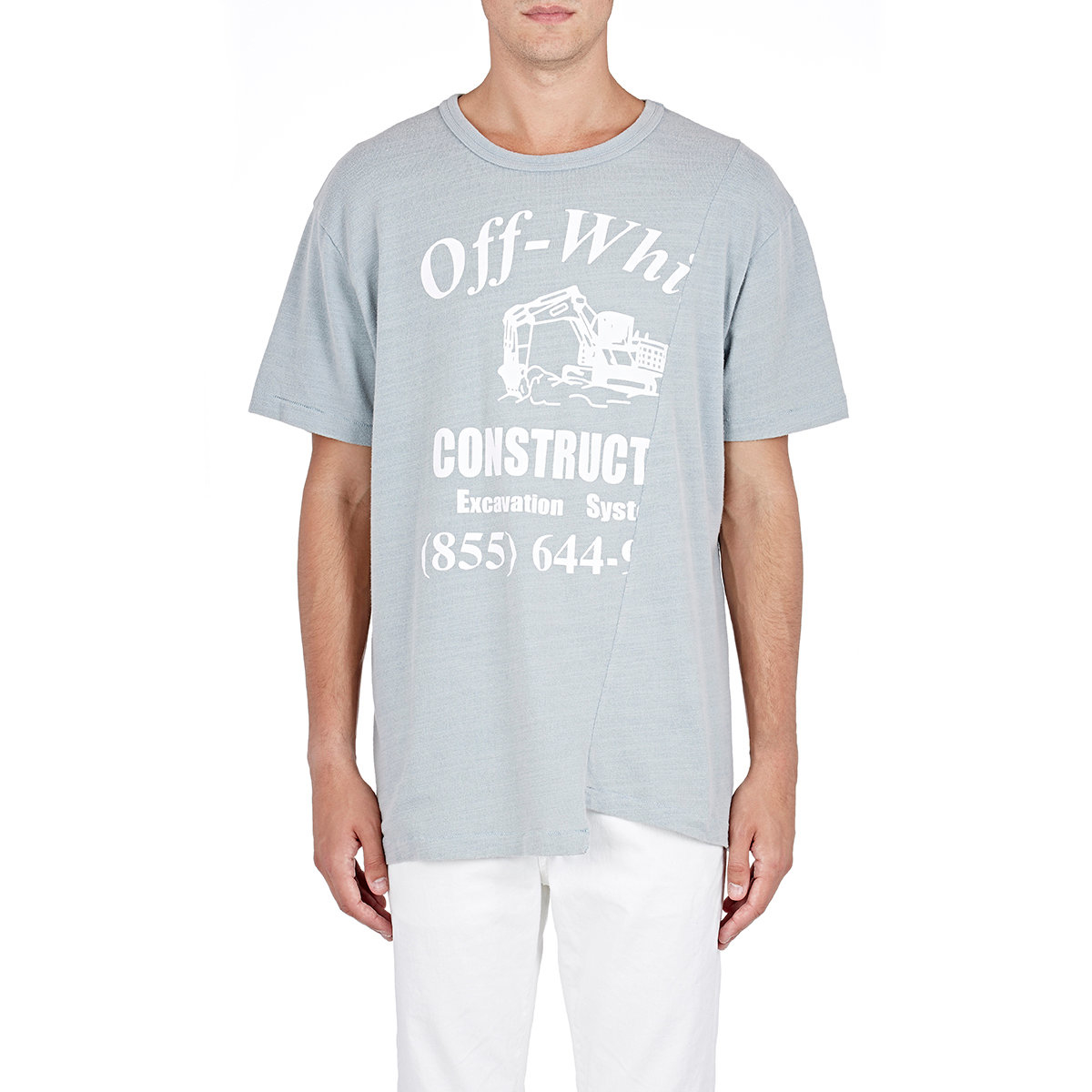 f0ee159bcb74 Lyst - Off-White c o Virgil Abloh Men s Construction T-shirt in Blue ...
