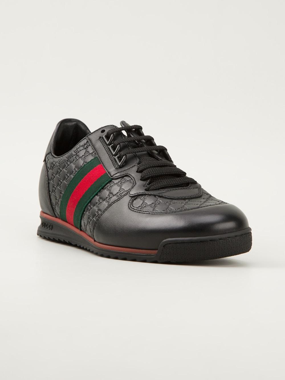 Gucci Monogram Embossed Sneakers in