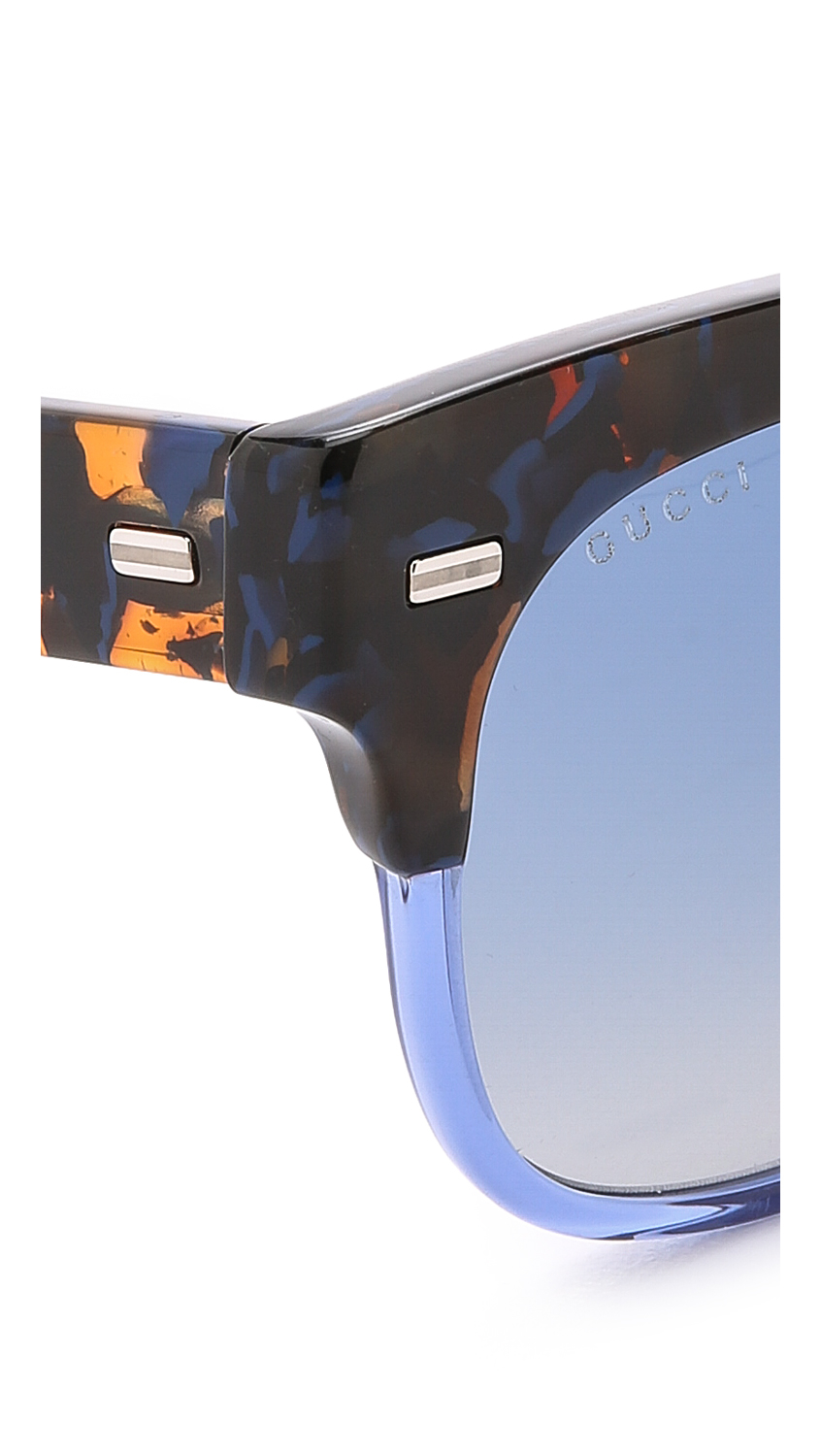 5b87d3e1cce0c Gucci Spotted Top Sunglasses in Blue - Lyst