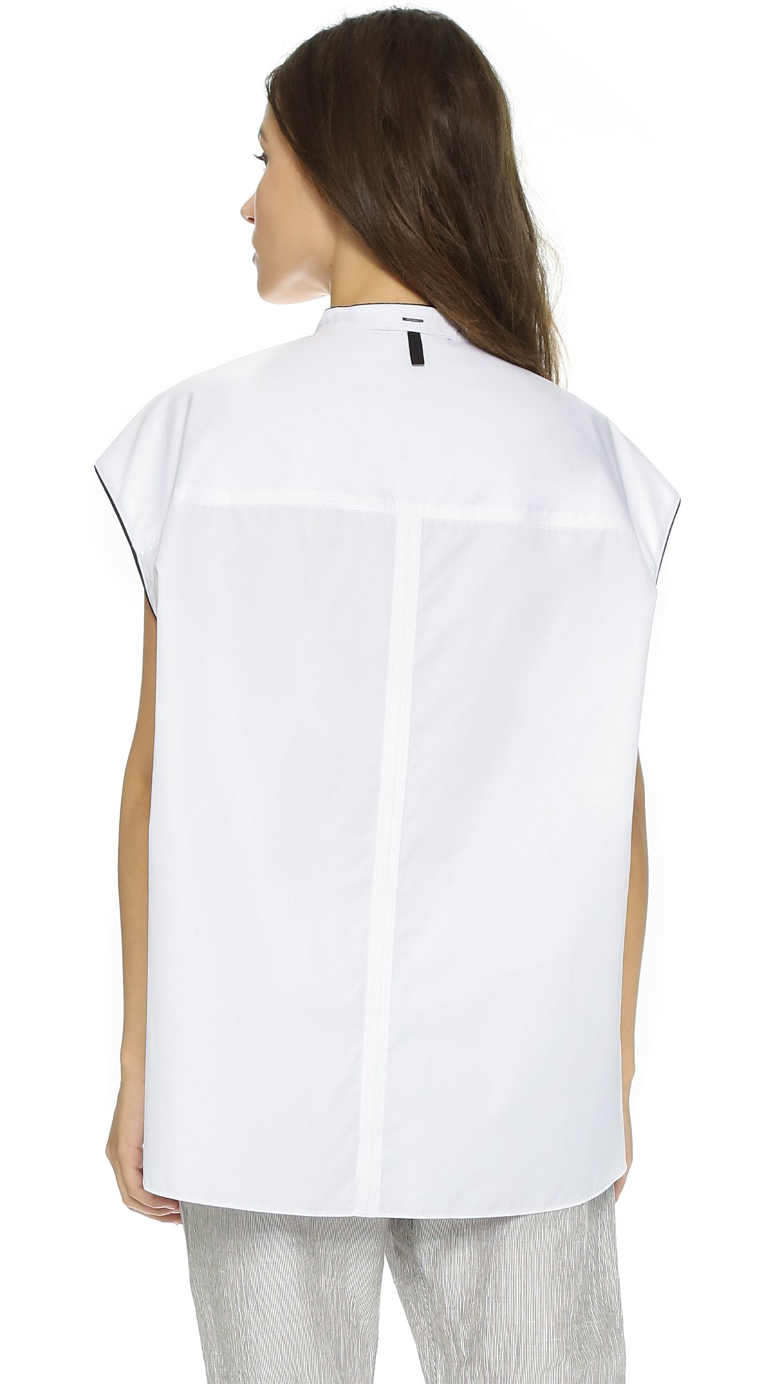 Lyst rag bone manon shirt white in white for Rag bone shirt