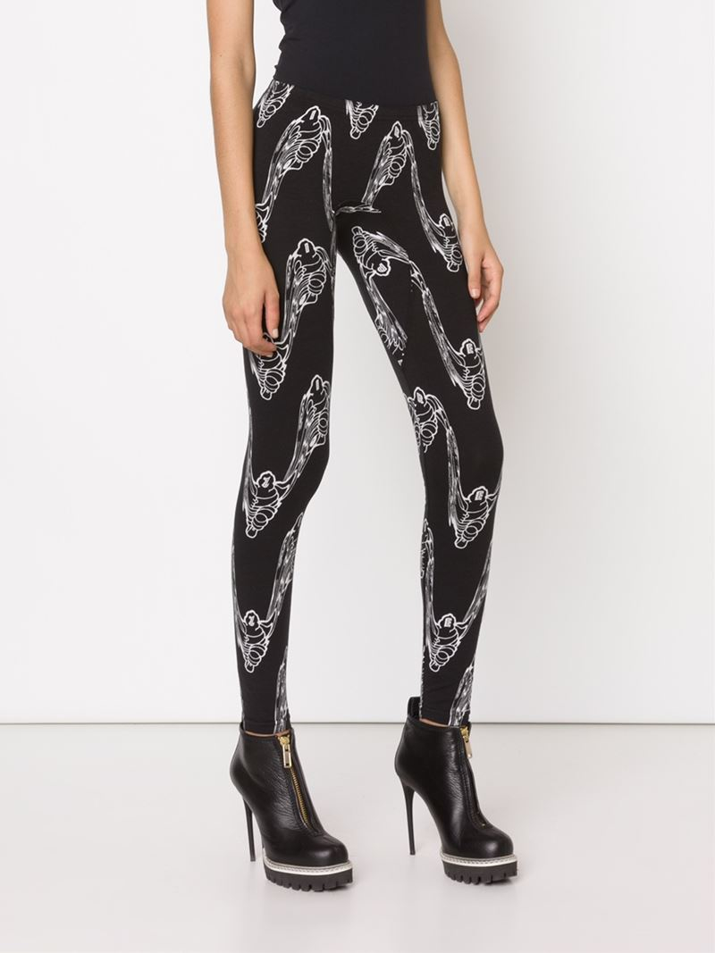bernhard willhelm printed leggings in black lyst