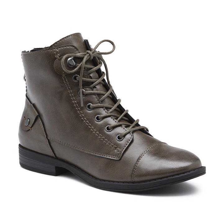 G H Bass Amp Co Patricia Short Boot In Gray Lyst