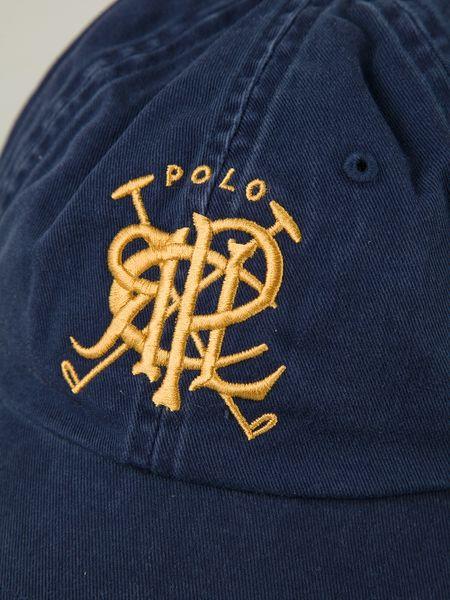Polo Ralph Lauren Crest Embroidered Baseball Cap In Blue