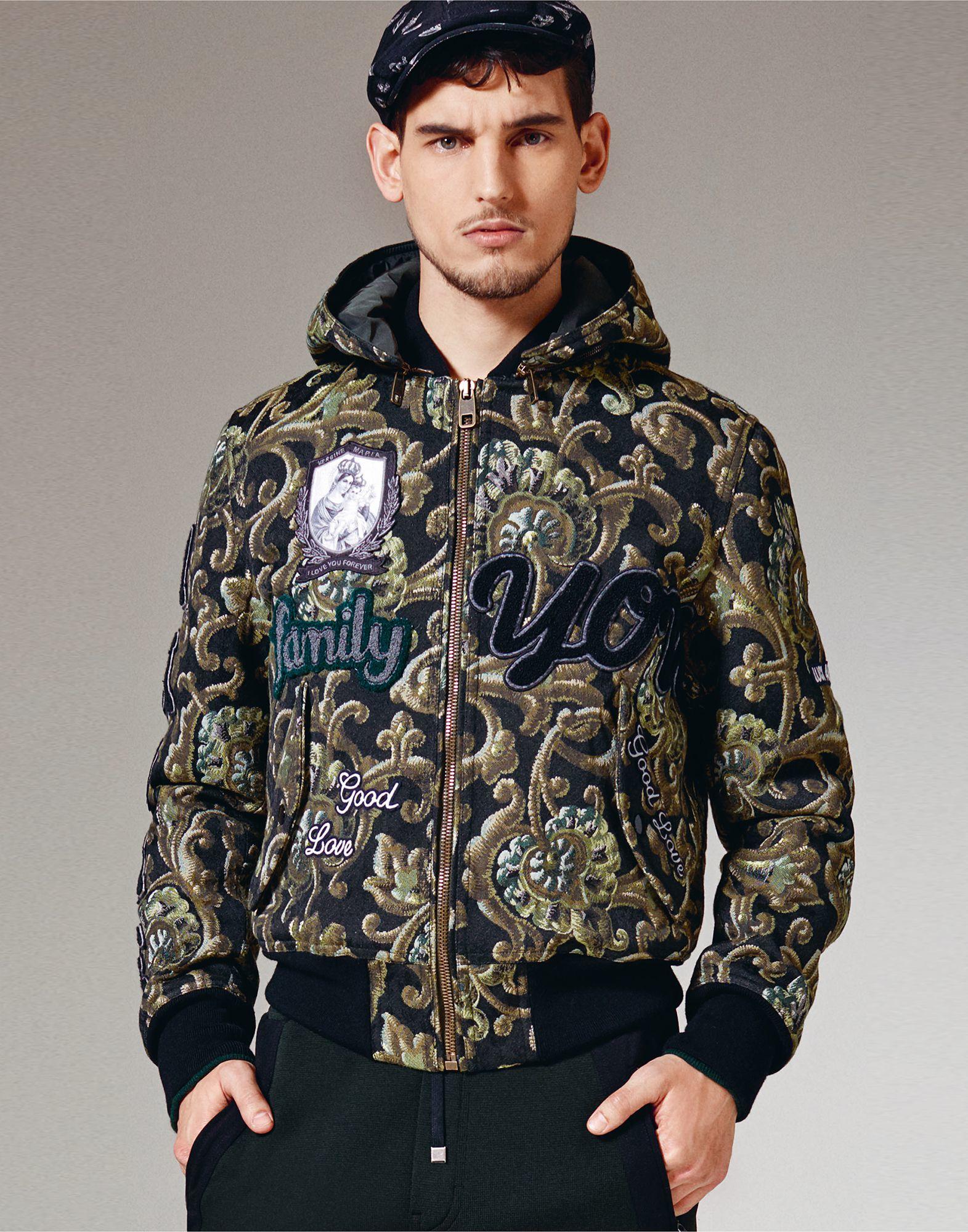 Lyst Dolce Amp Gabbana Baroque Print Bomber Jacket In