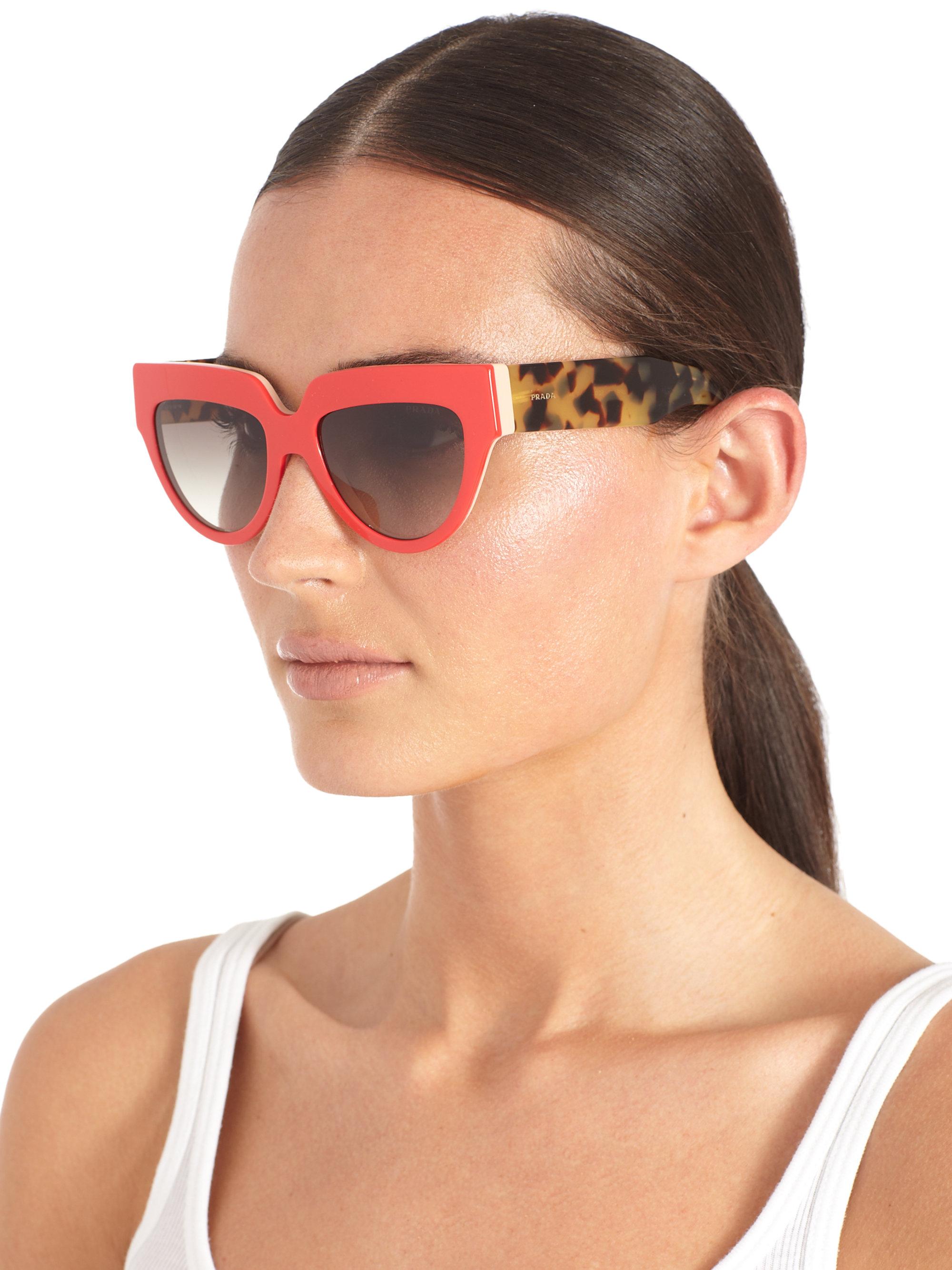 84efbeb8fd Lyst - Prada Poeme Plastic Sunglasses in Blue