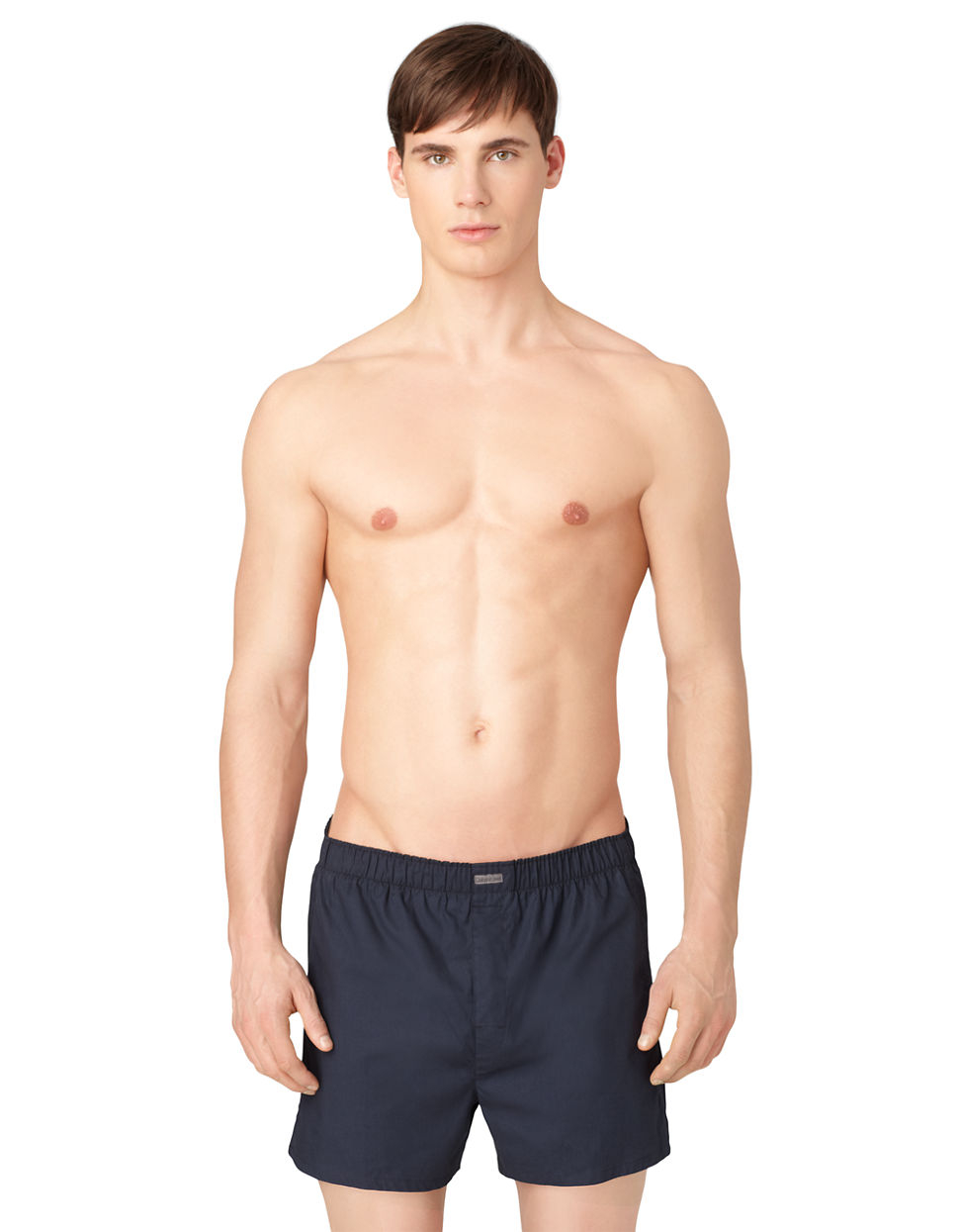 calvin klein three pack woven boxer shorts set in blue for men lyst. Black Bedroom Furniture Sets. Home Design Ideas