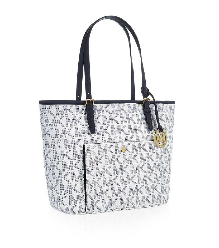 572a51d91 MICHAEL Michael Kors Jet Set Snap Pocket Tote in Gray - Lyst