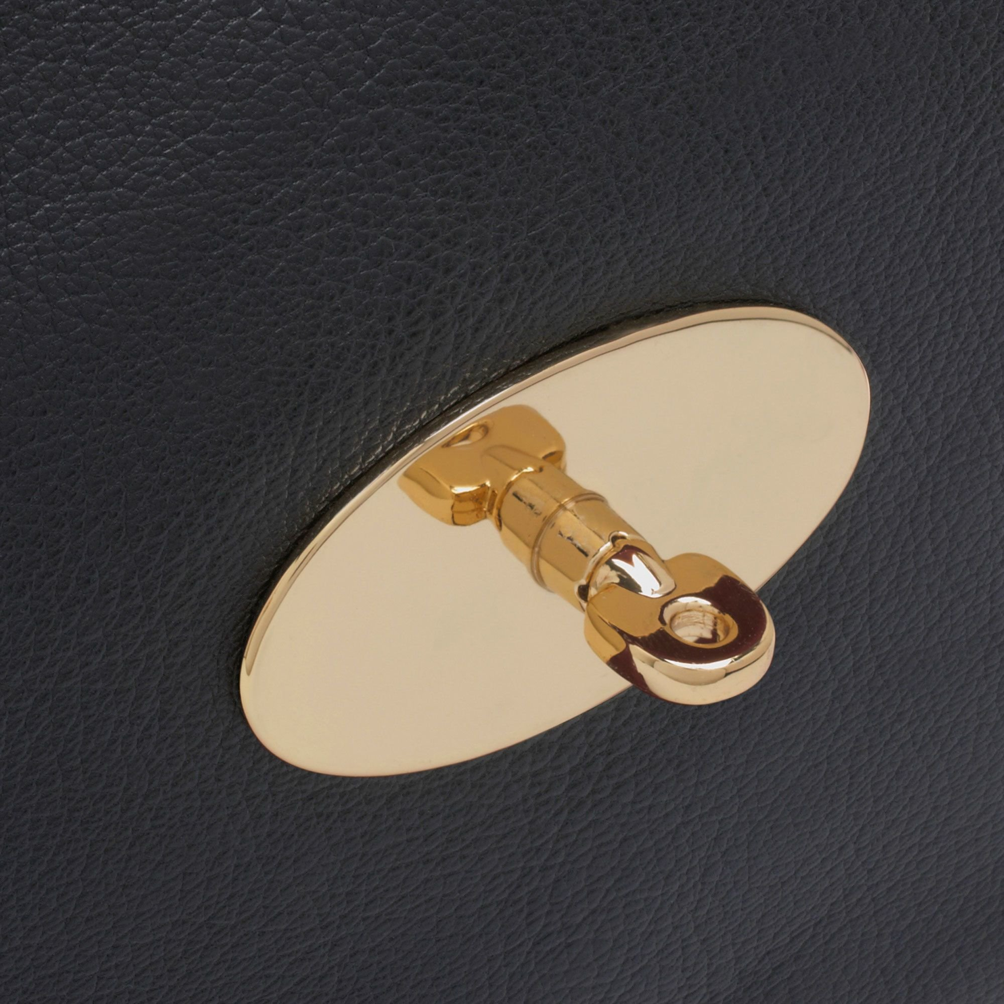 6a5aaf5157 Lyst - Mulberry Clemmie Clutch Glossy Goat in Black