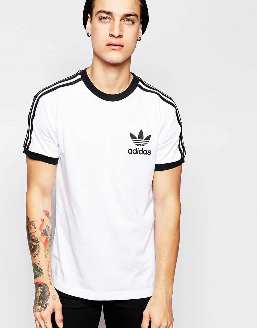 adidas originals california t shirt ab7602 in white for men lyst. Black Bedroom Furniture Sets. Home Design Ideas