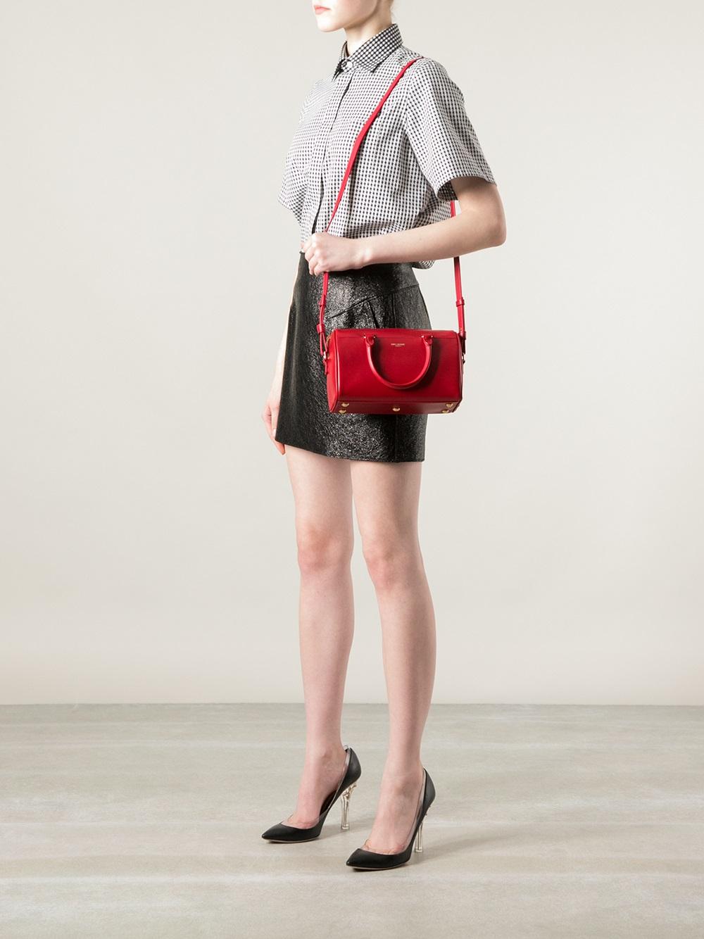 ysl messenger bag - Saint laurent Classic Baby Duffle Bag in Red | Lyst