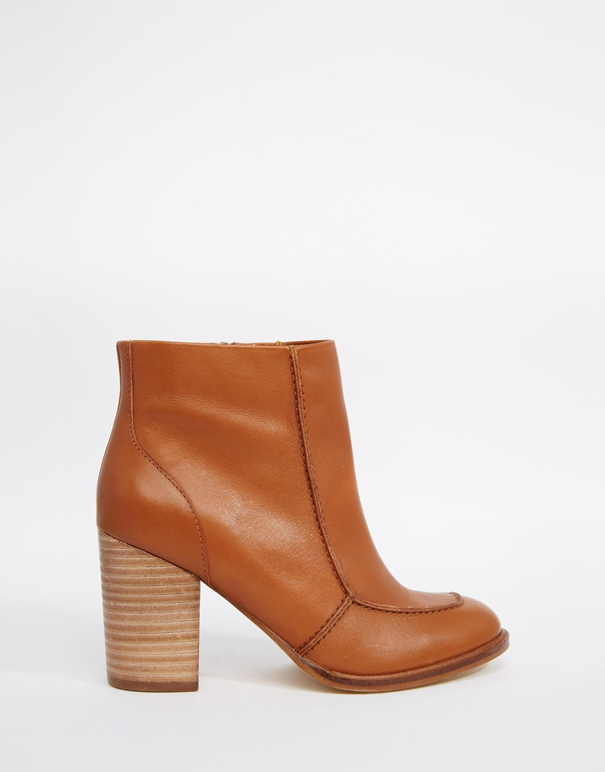 ASOS Earthy Leather Ankle Boots - Tan in Brown