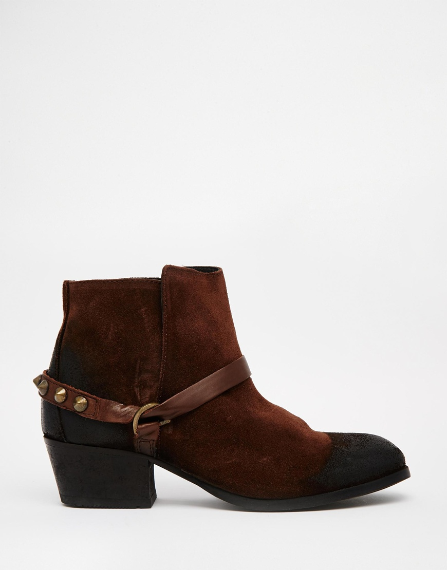 H by Hudson Ayelen Brown Suede Ankle Boots