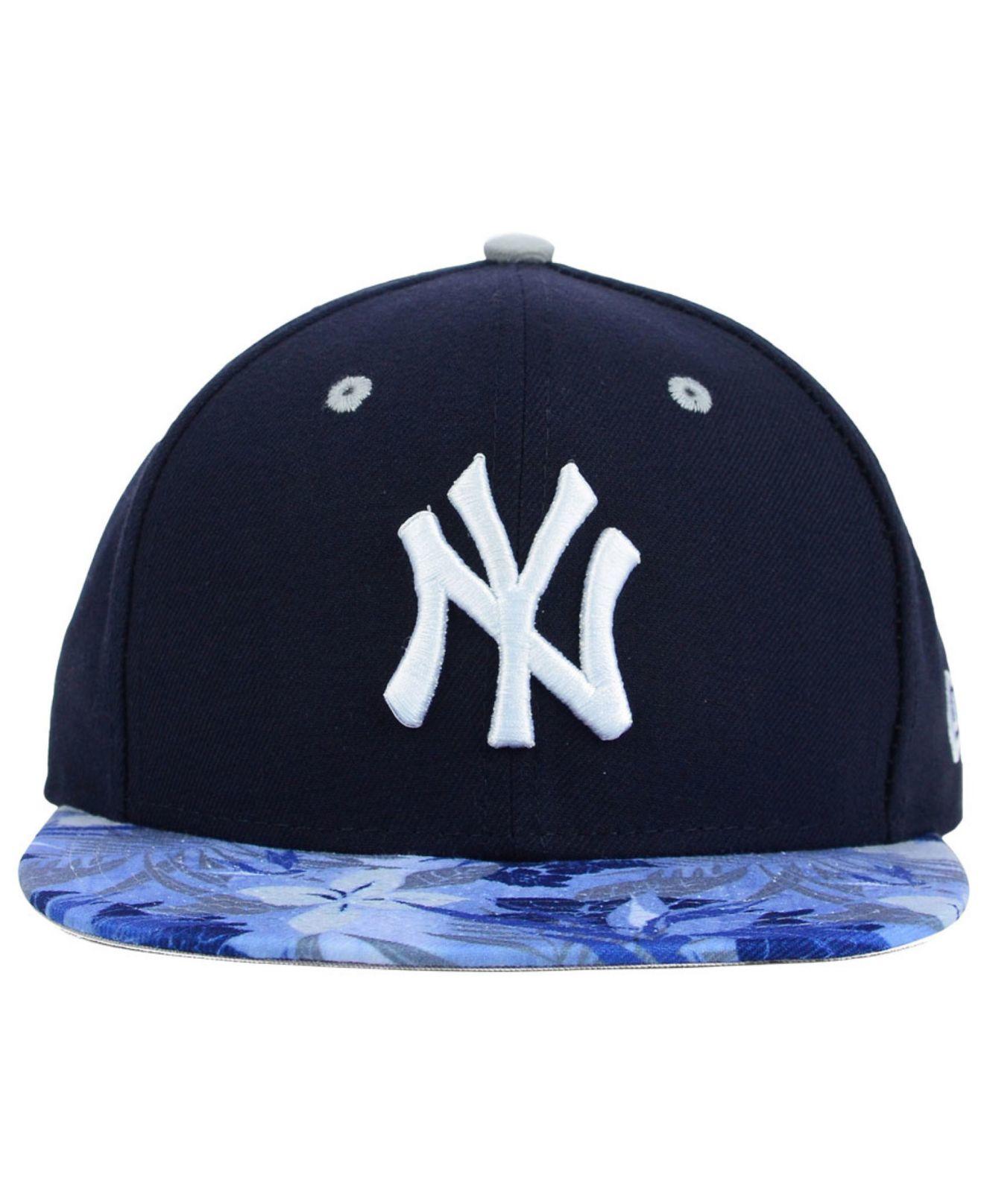 2f93096a8ce Lyst - KTZ New York Yankees Floral Viz 9fifty Snapback Cap in Blue ...
