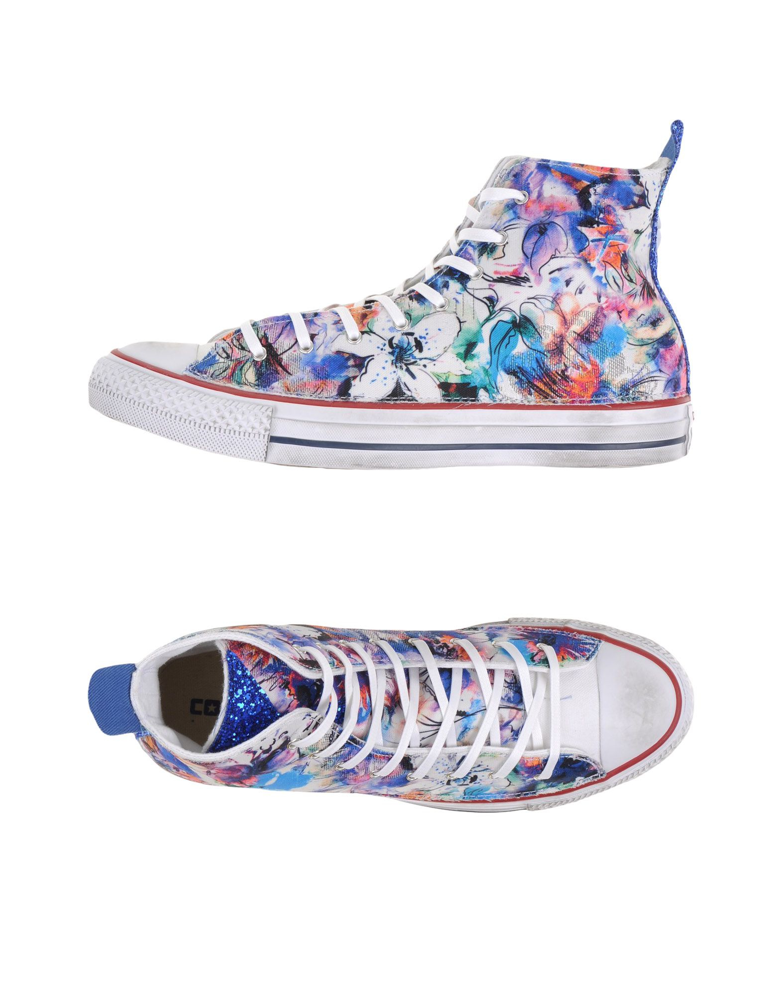 converse high tops sneakers in blue lyst. Black Bedroom Furniture Sets. Home Design Ideas