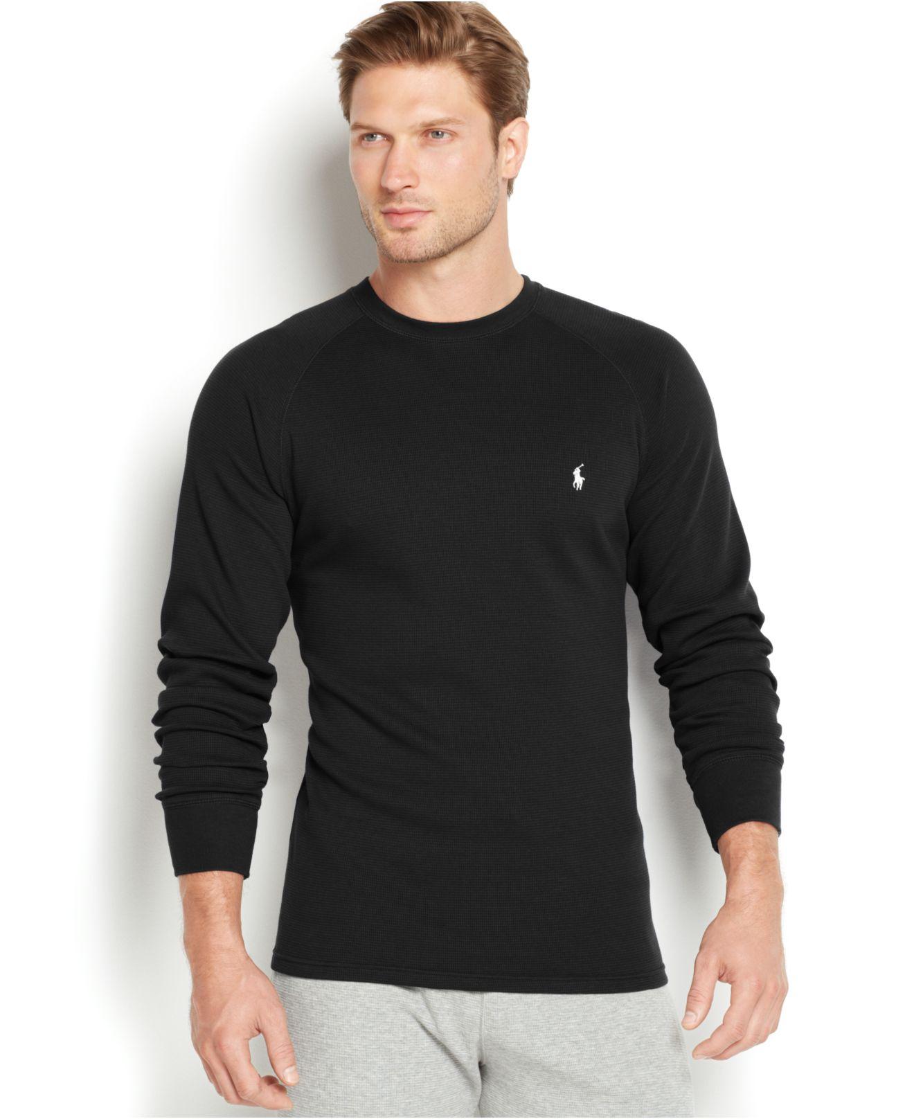 Lyst Polo Ralph Lauren Mens Thermal Raglan Crew Neck Shirt In