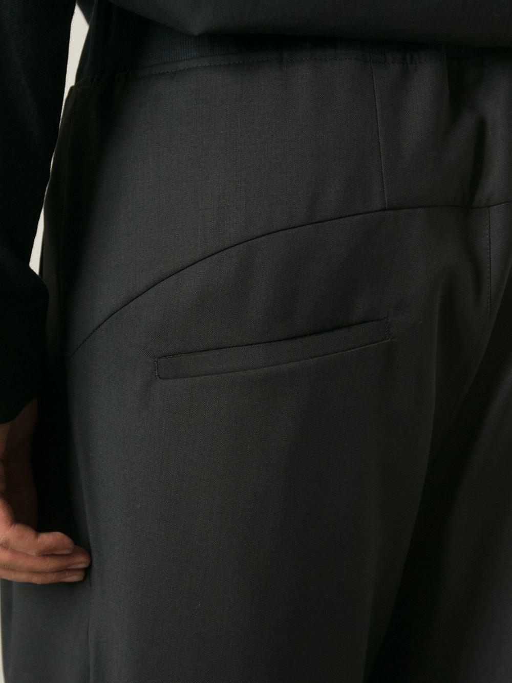 Odeur Wide Leg Cropped Trousers in Black for Men