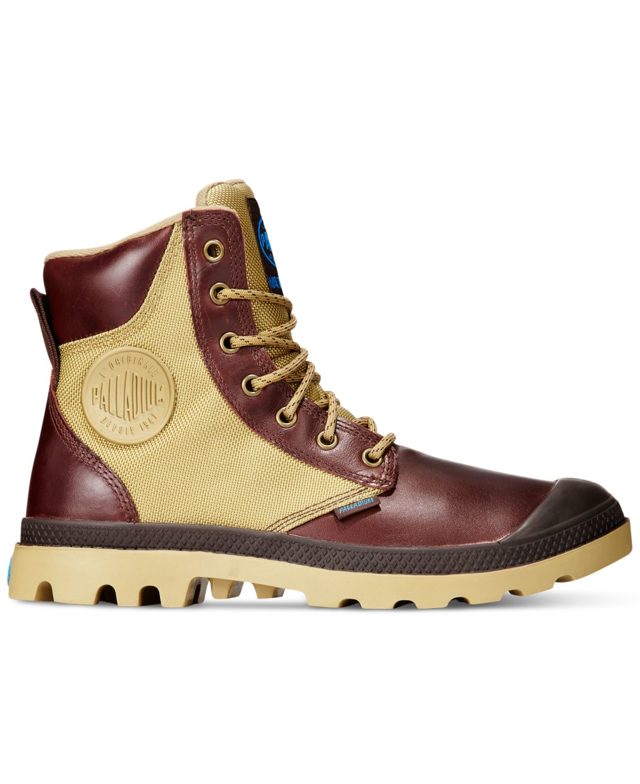 Palladium Pampa Sport Cuff Waterproof Boots In Brown For