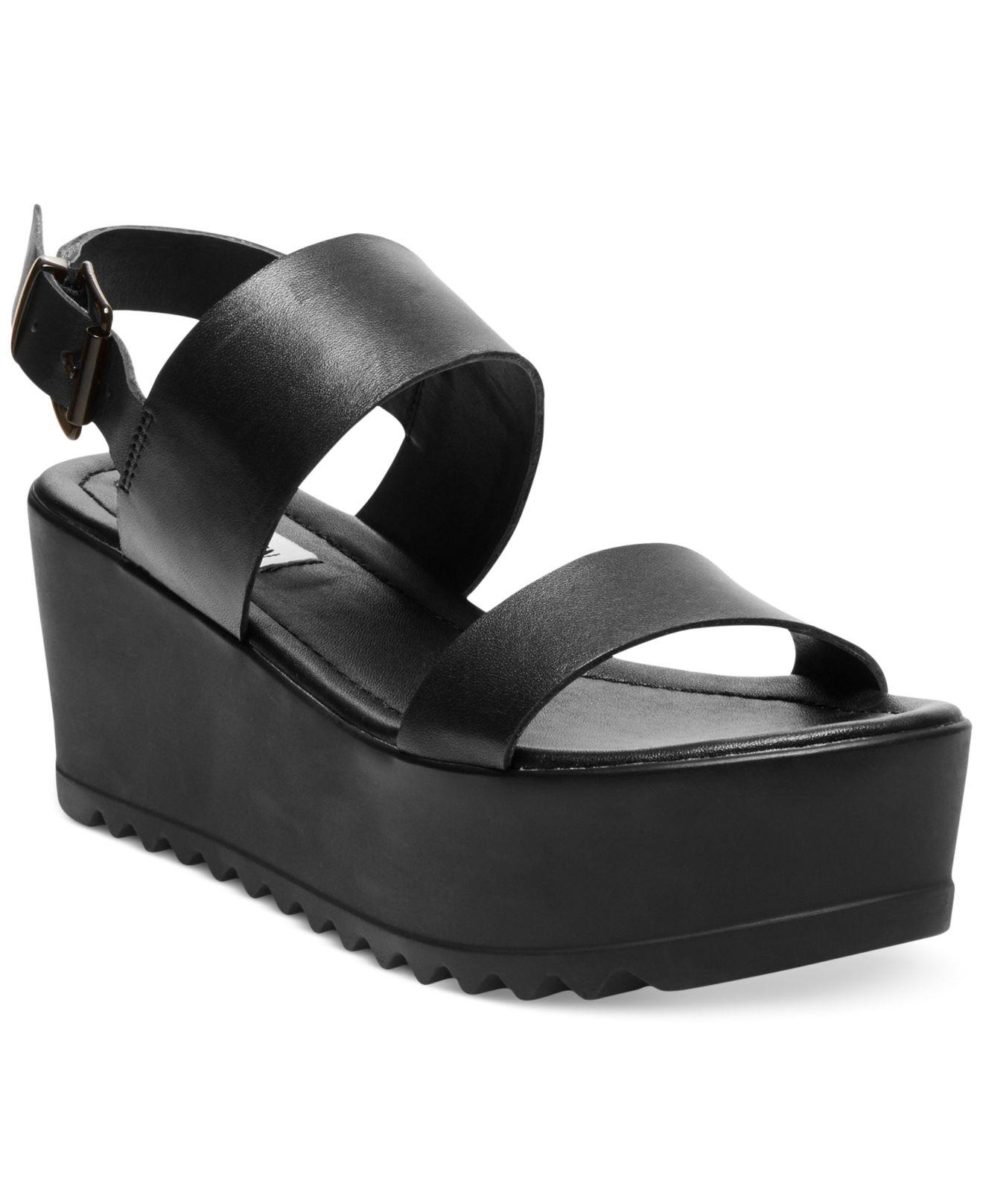 7d7939893a05 Lyst - Steve Madden Women S Wave Two-Piece Platform Wedge Sandals in ...