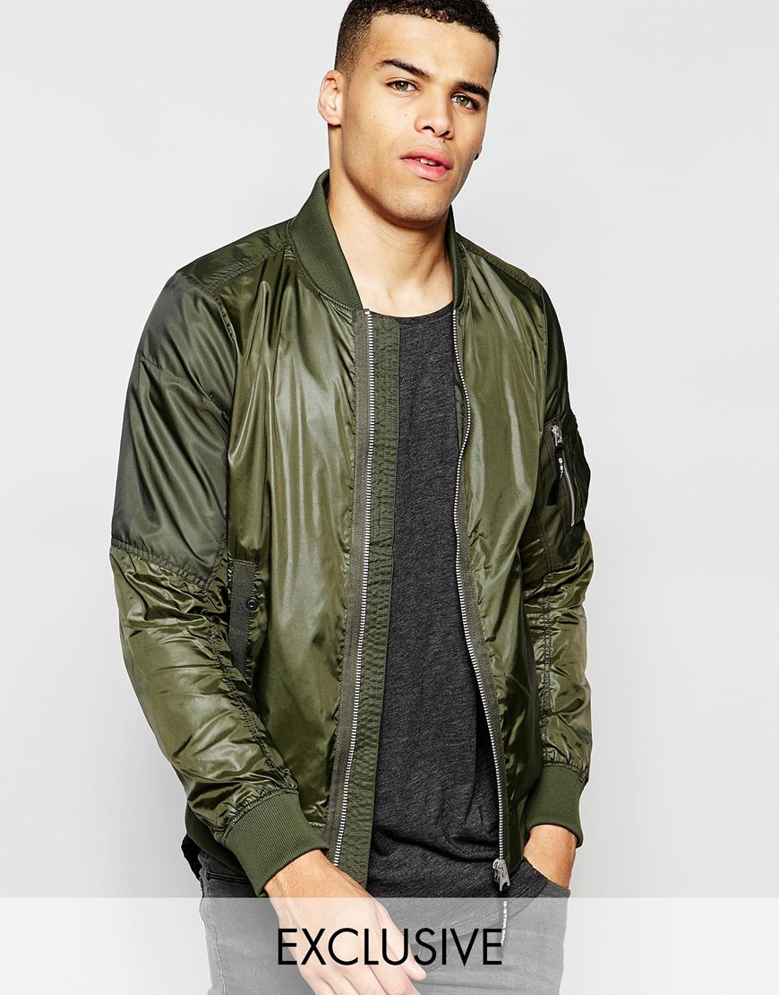 g star raw be raw bomber jacket batt a nylon in forest night green in green for men forestnight. Black Bedroom Furniture Sets. Home Design Ideas