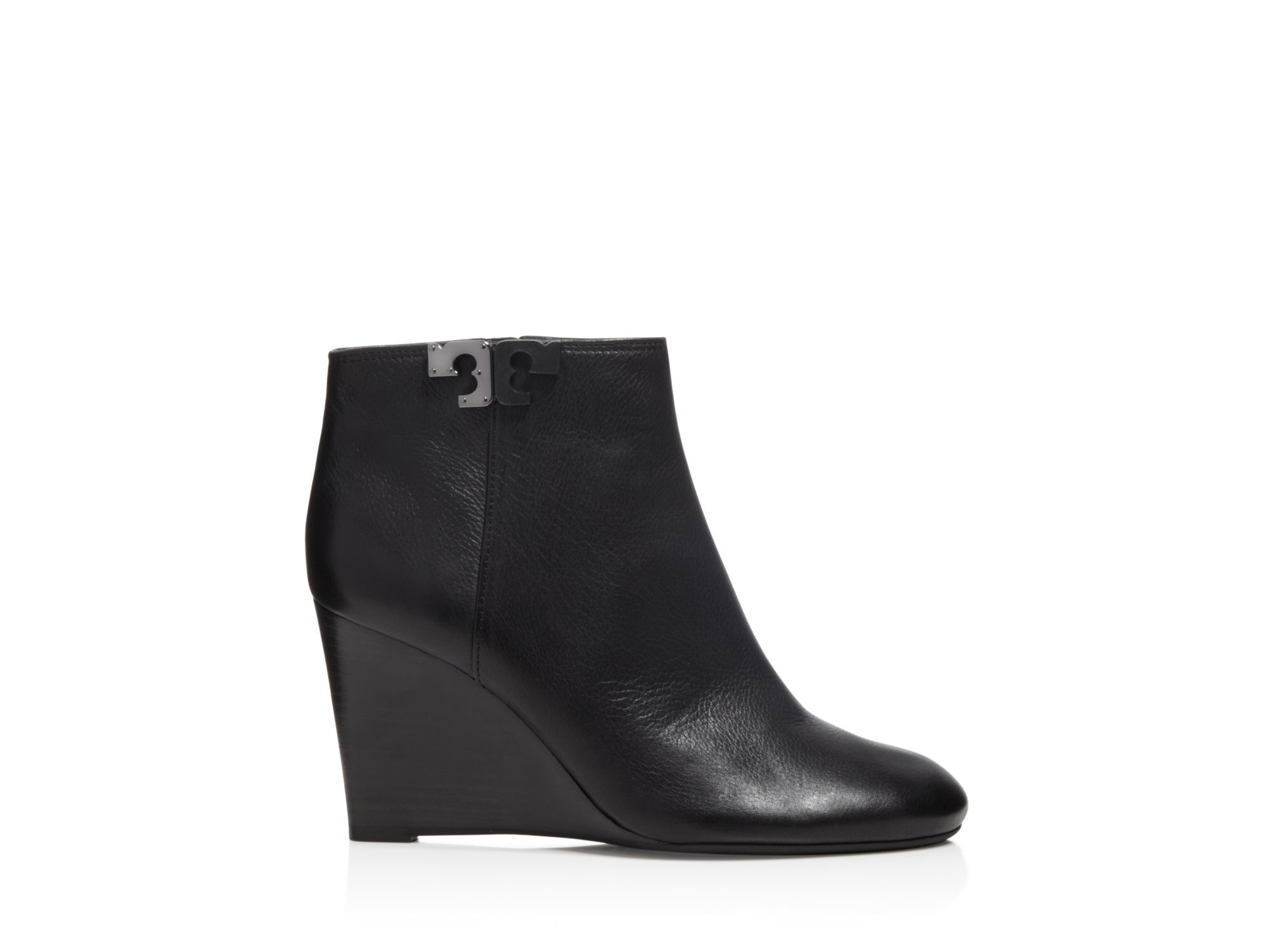 3671701f6613 Lyst - Tory Burch Lowell Wedge Booties in Black
