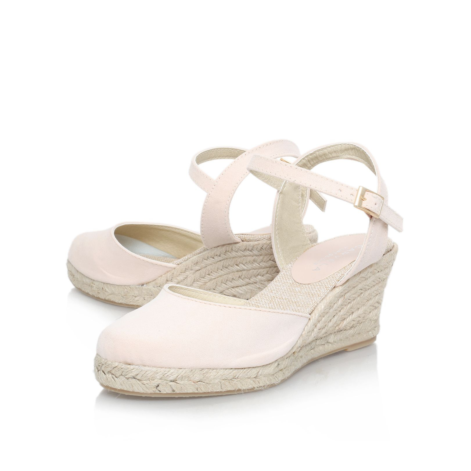 carvela kurt geiger sabrina mid wedge heel court shoes in