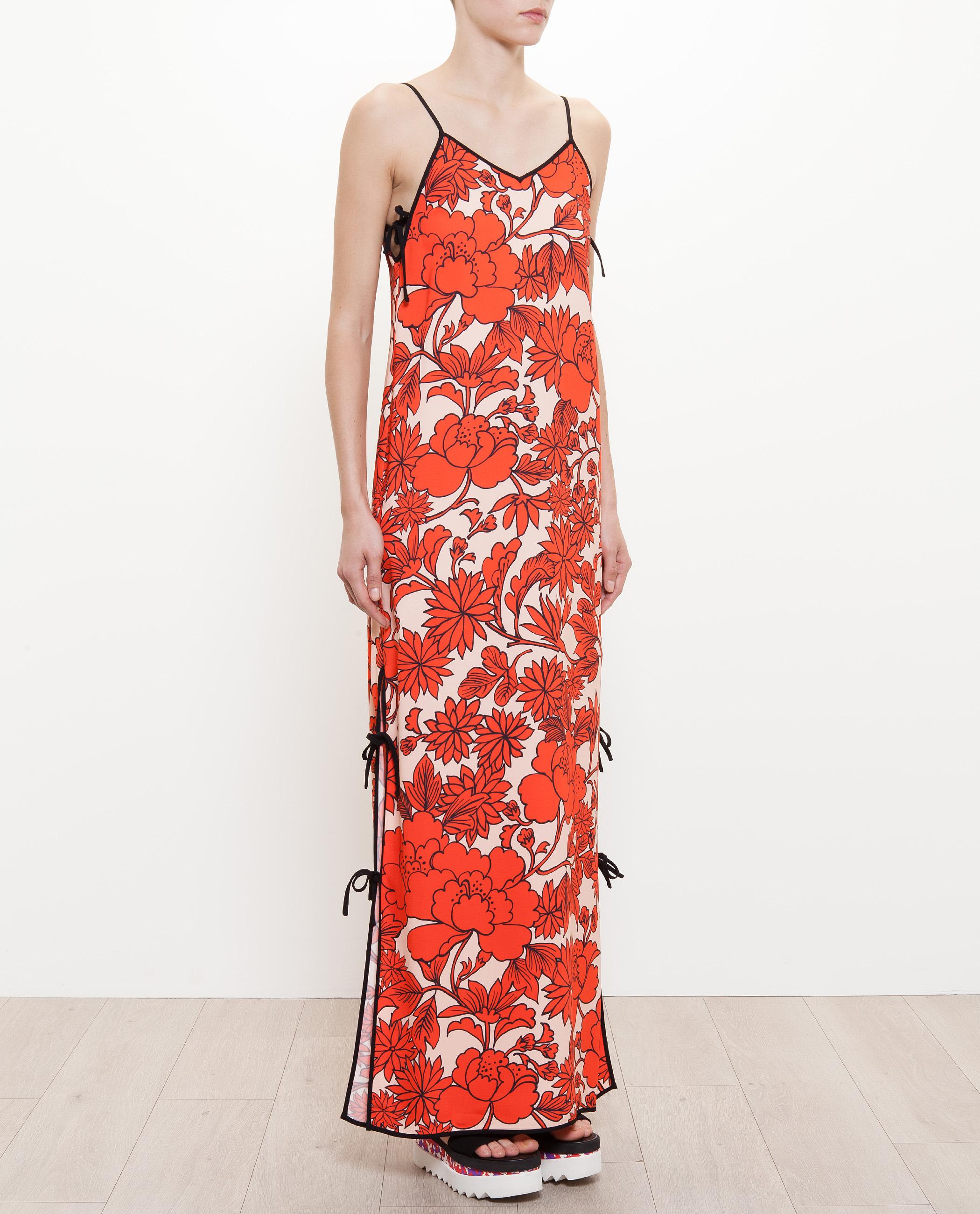 Lyst Msgm Hawaiian Print Dress In Red