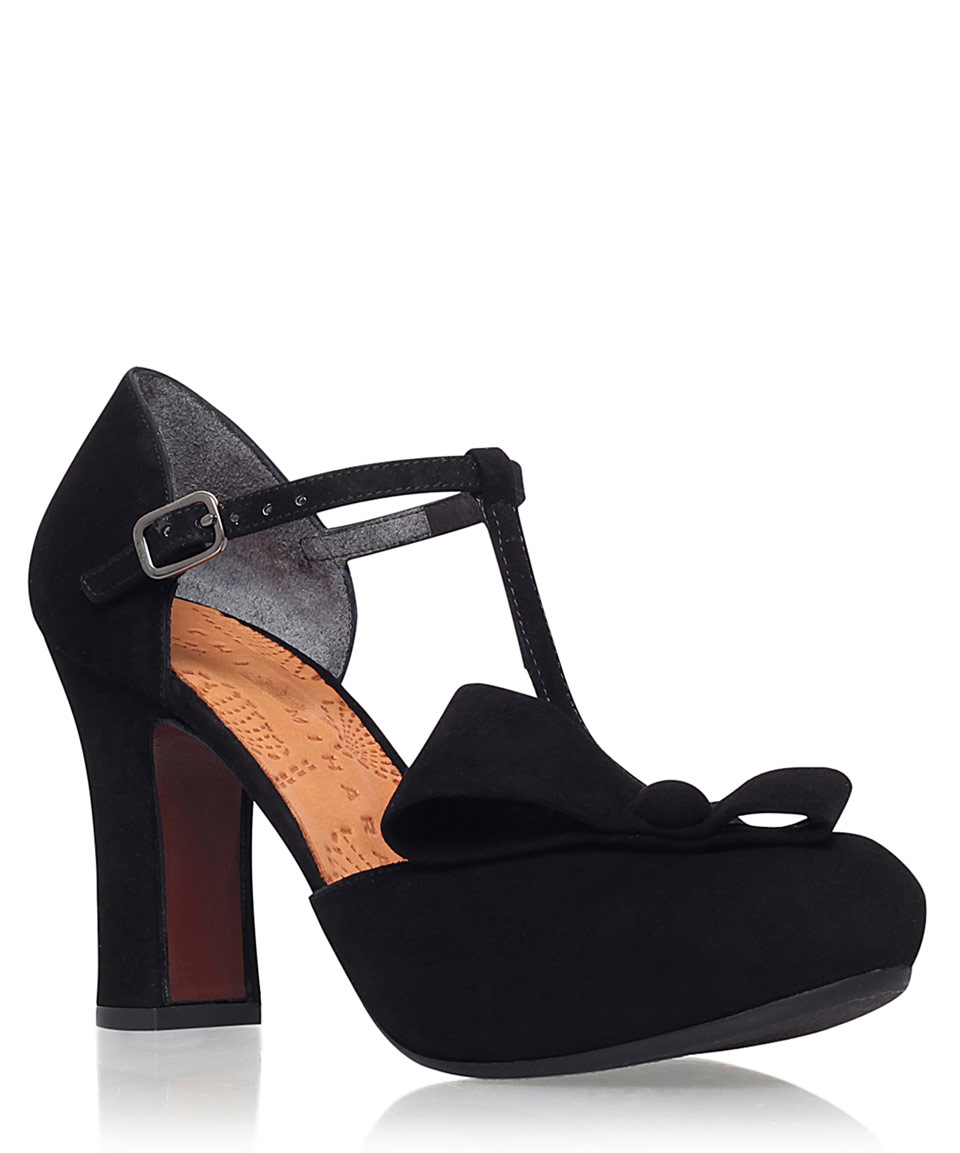 Chie Mihara Dubi Black Suede Shoes