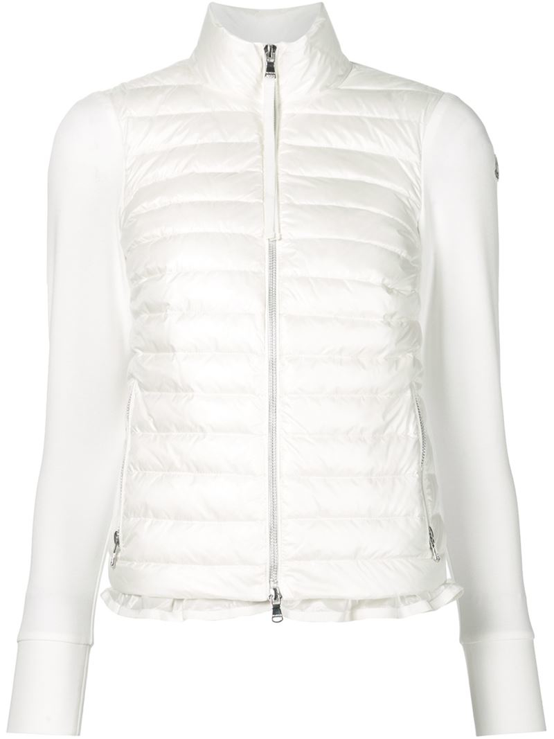 Moncler Quilted Front Down Jacket In White Lyst