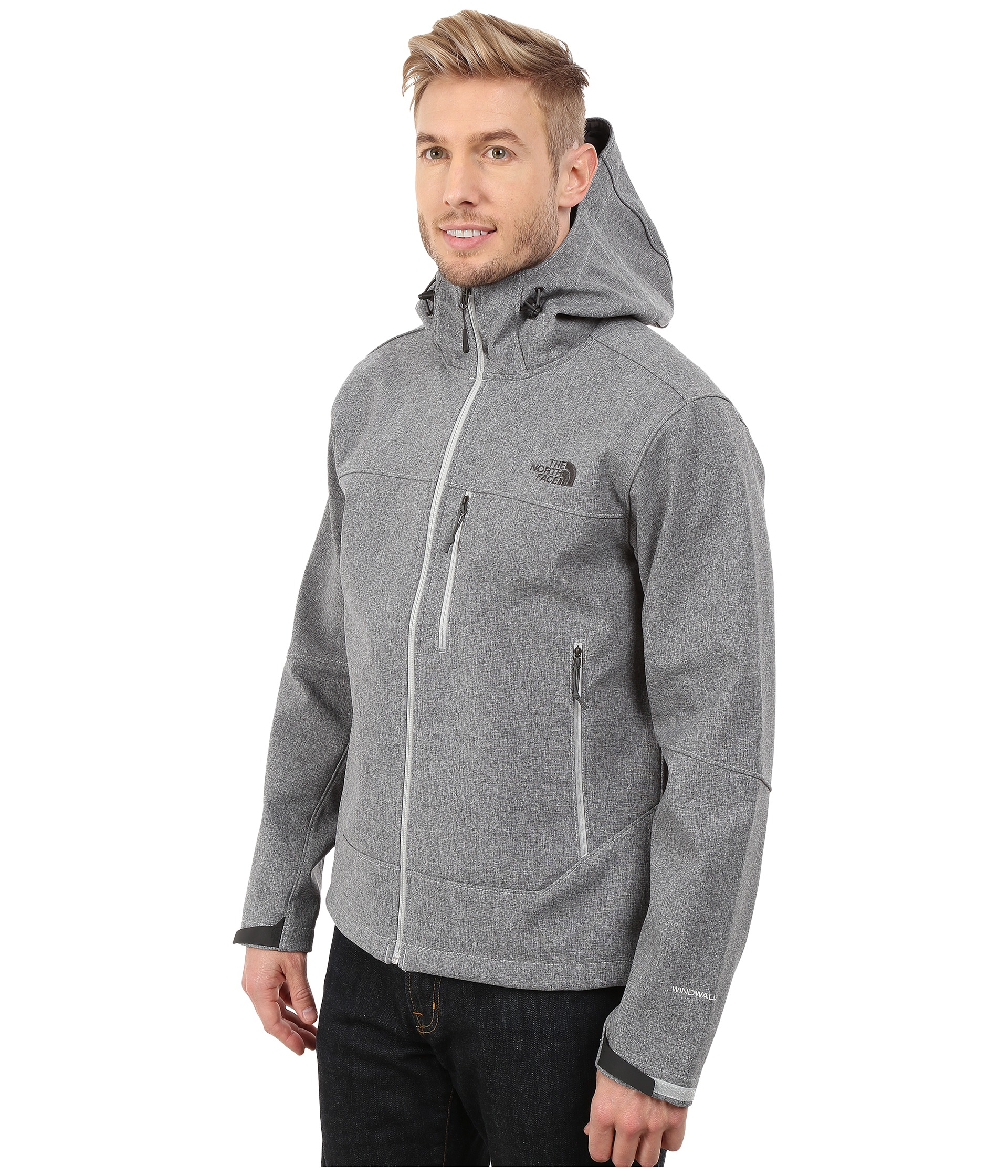 4c8ccbedb The North Face Gray Apex Bionic Hoodie for men