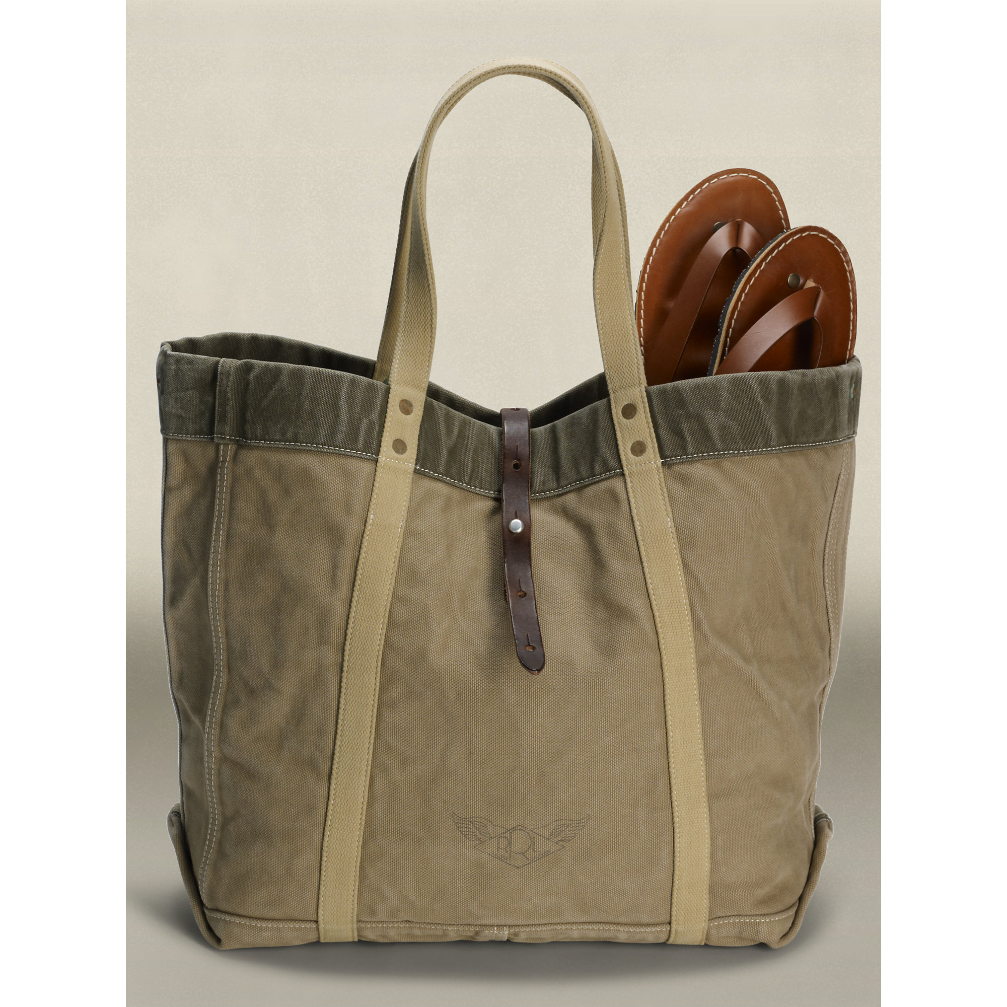 3fc830f65044 Lyst - Ralph Lauren Vintage Canvas Tote in Green for Men