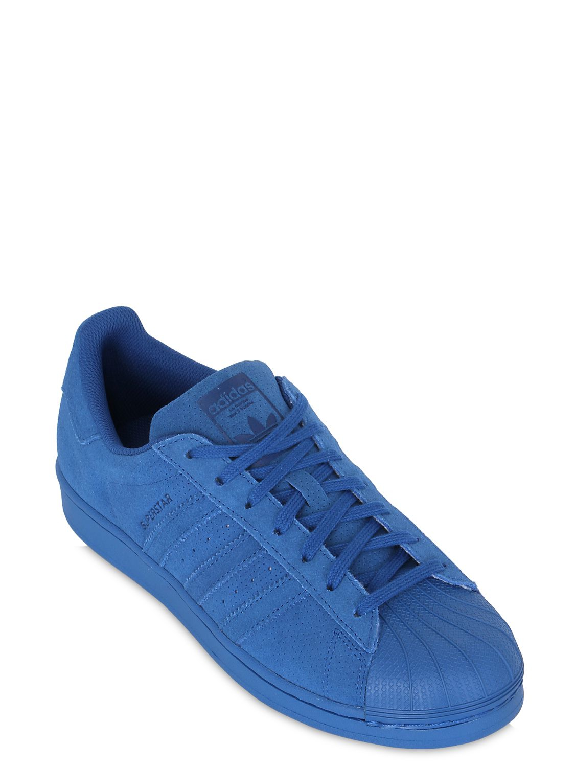 adidas originals superstar adicolor suede sneakers in blue. Black Bedroom Furniture Sets. Home Design Ideas