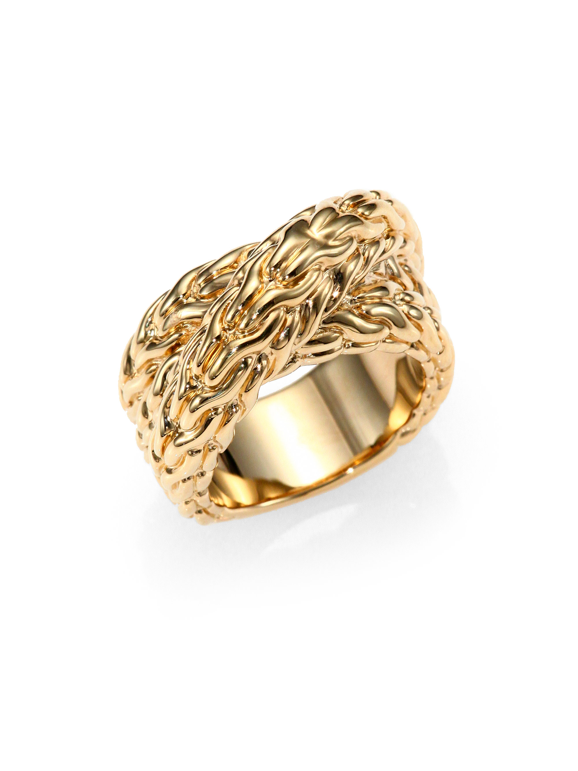 in gallery hardy john wrap ring engagement bronze classic rings braided metallic product lyst yellow normal jewelry gold chain