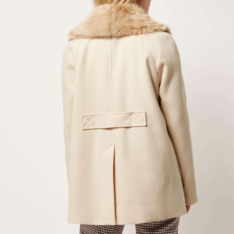 Cream Pea Coat Fashion Women S Coat 2017