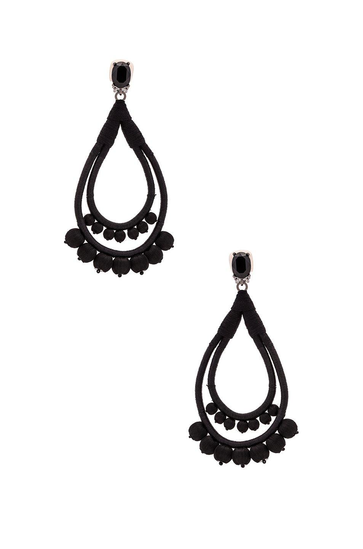 beaded seashell earrings - Black Oscar De La Renta rOkJb5W
