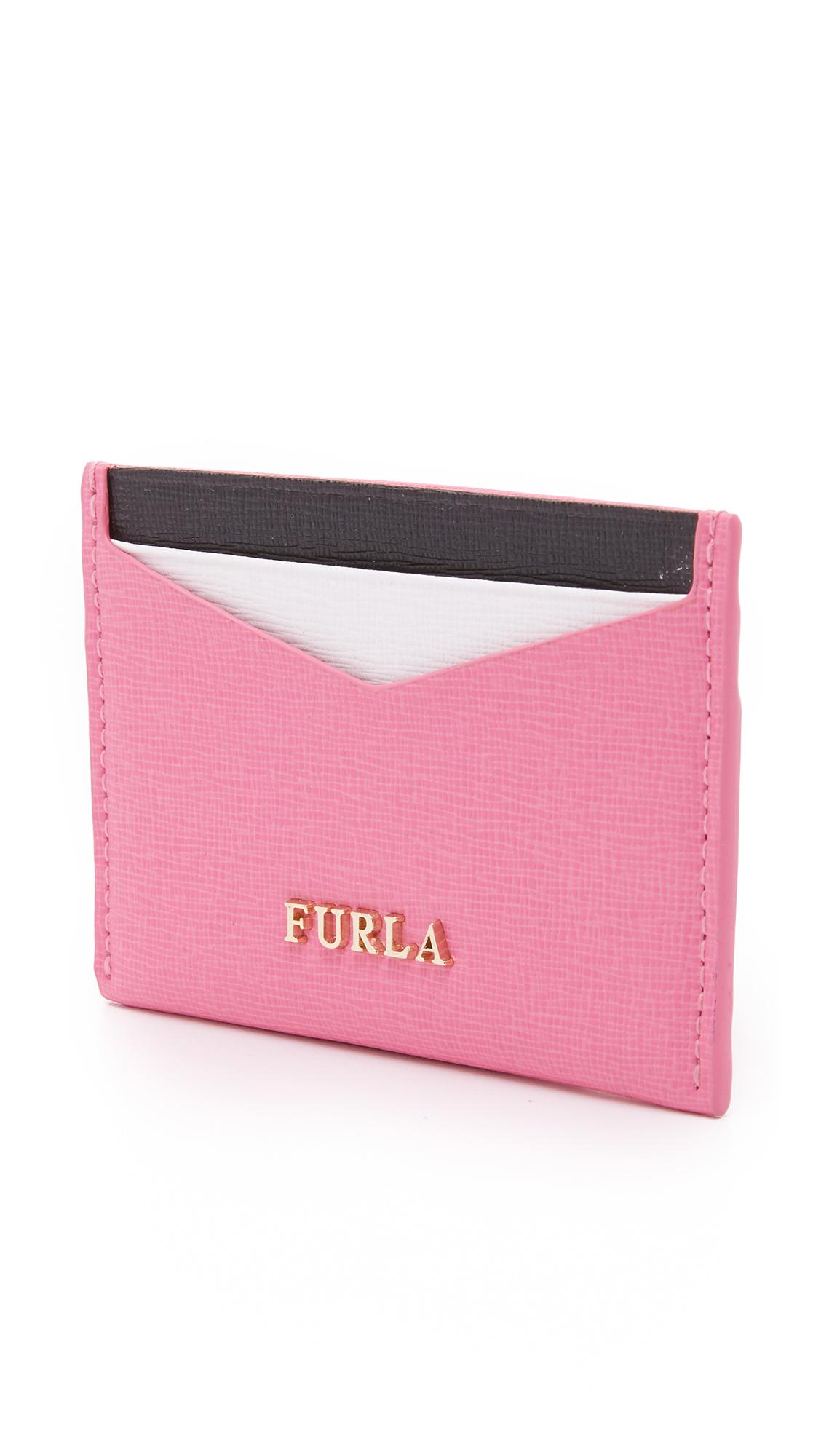 Lyst - Furla Trilli Credit Card Case in Pink