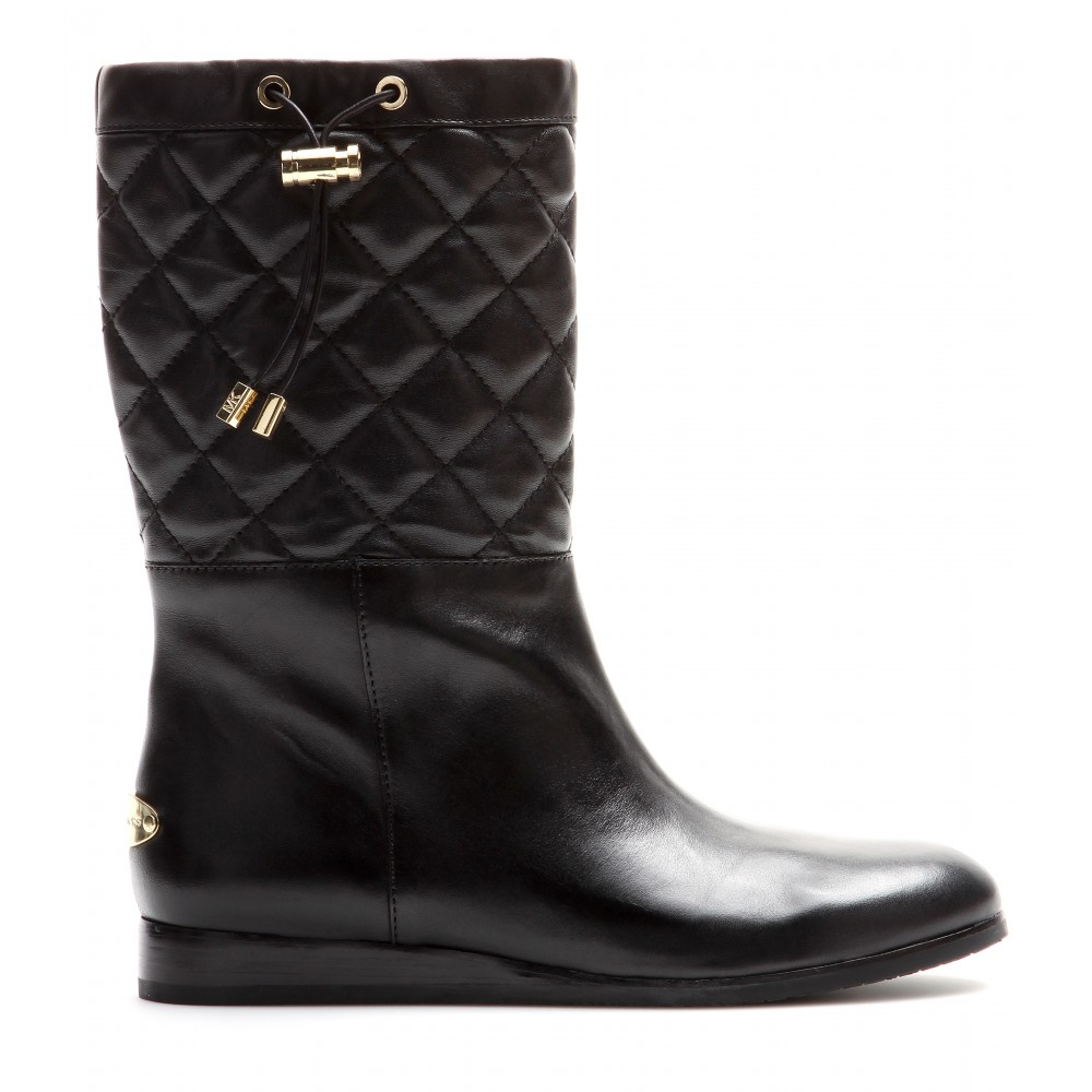 7a3ebdadeb5 MICHAEL Michael Kors Lizzie Leather Boots in Black - Lyst