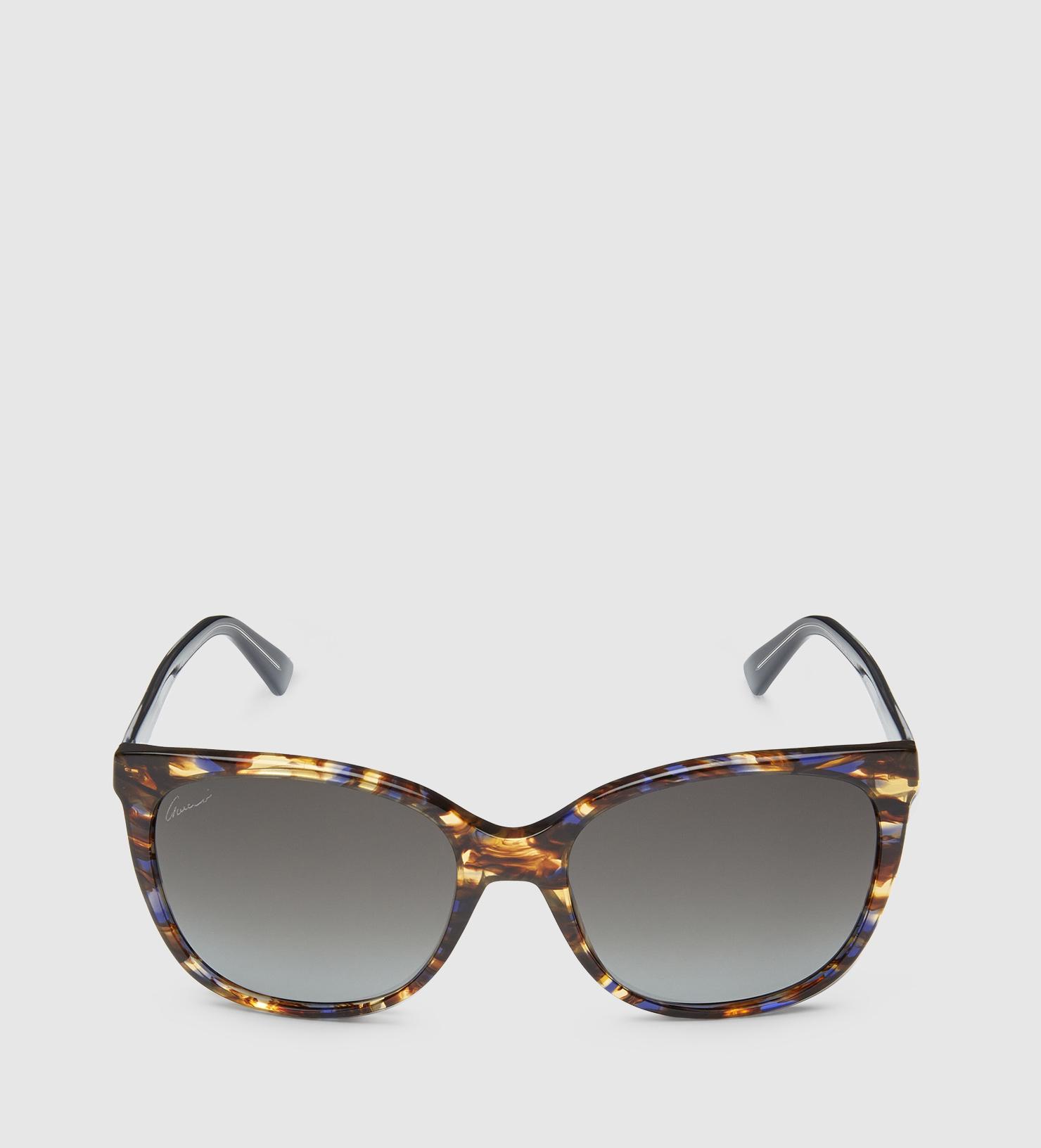 Gucci Havana Light Acetate Sunglasses in Brown Lyst