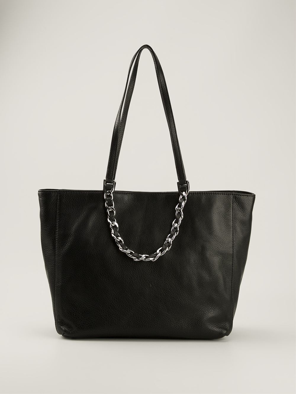 michael michael kors harper shopper tote in black lyst. Black Bedroom Furniture Sets. Home Design Ideas