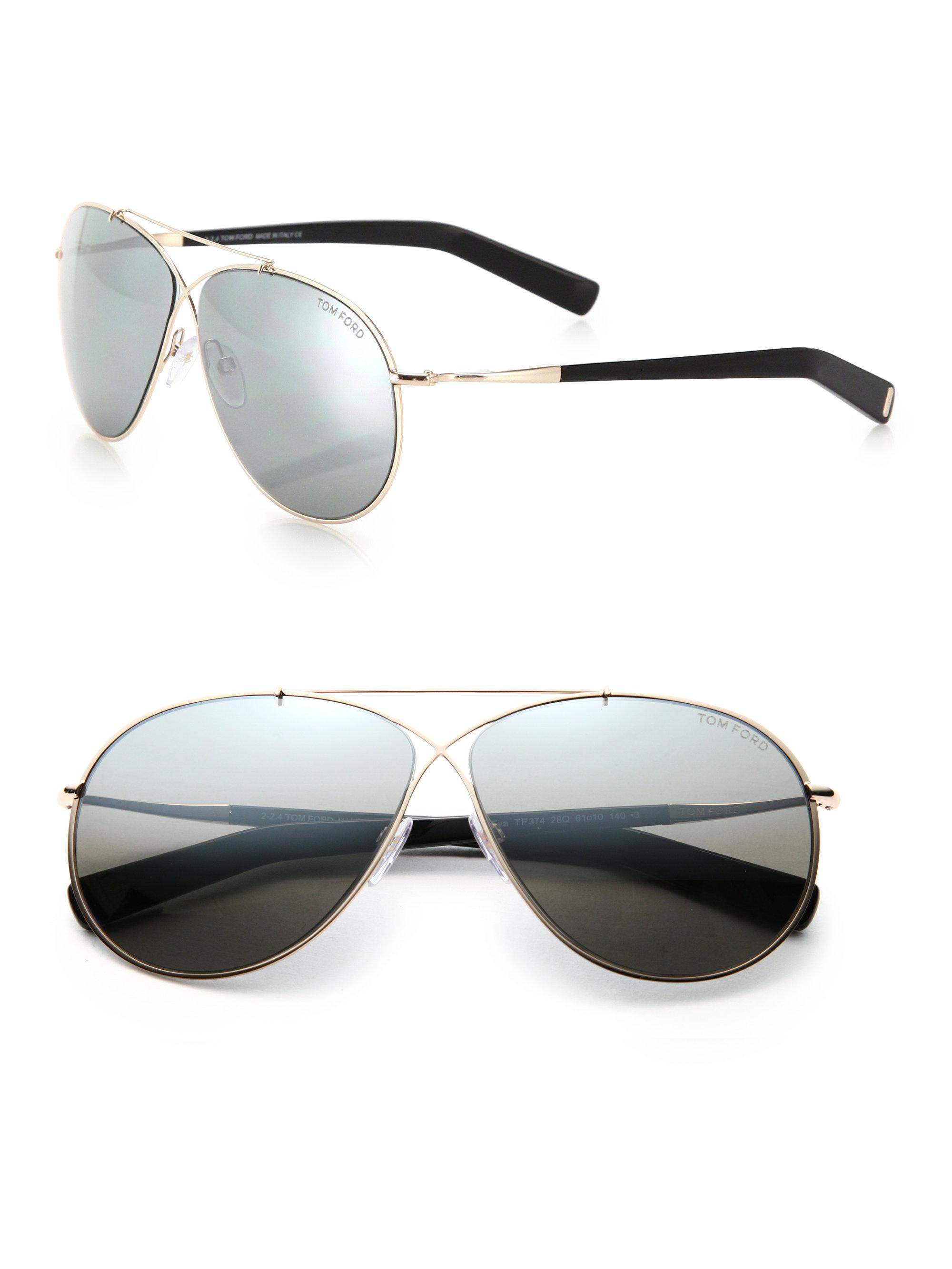 a0ec477797 Tom Ford Eva 61mm Pilot Sunglasses in Metallic - Lyst