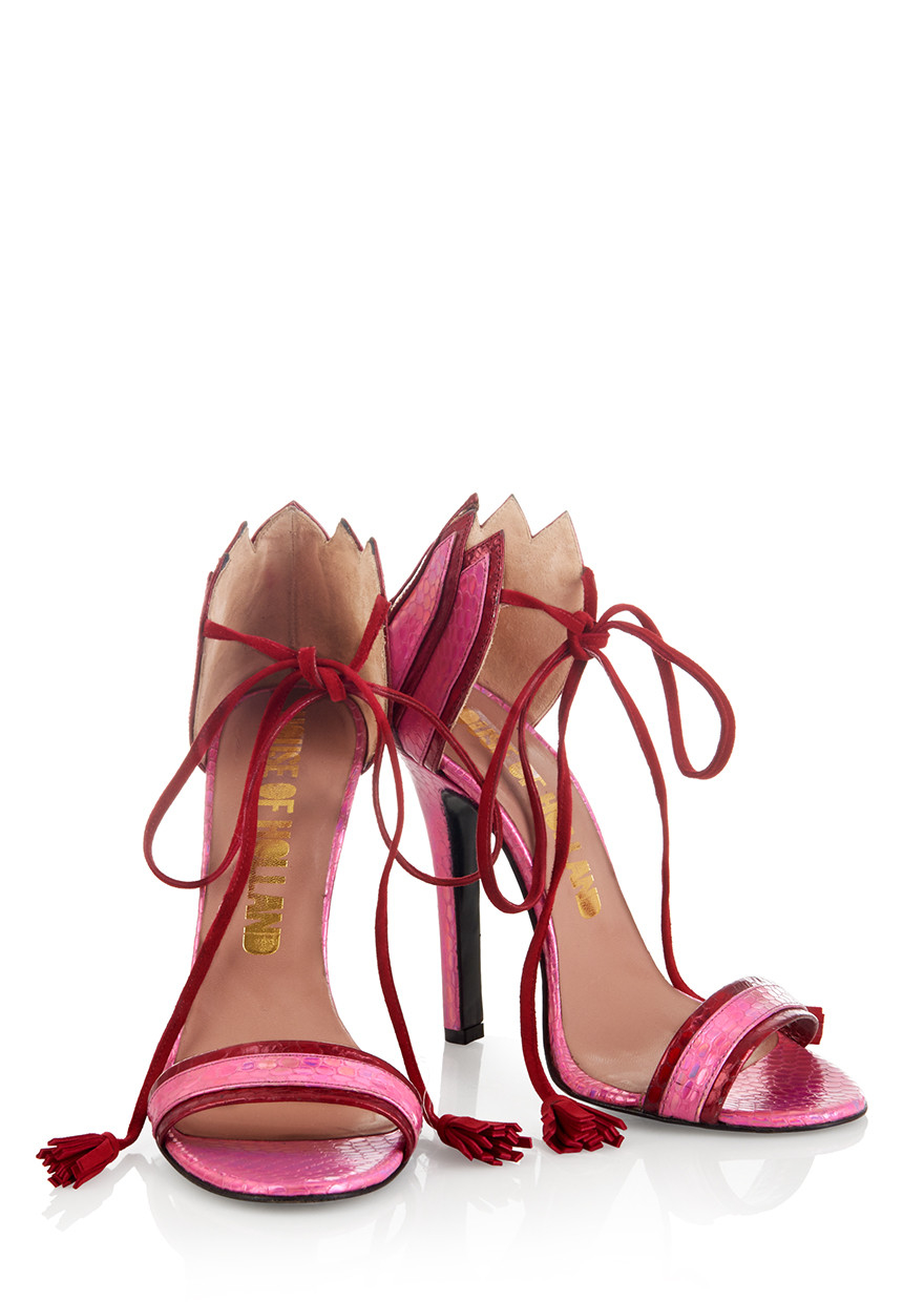 Lyst - House of holland Ss15 'plaster Casters' Red/ Pink Tassel ...