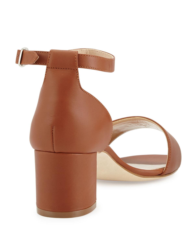 b2e00338b05 Lyst - Manolo Blahnik Lauratomod Block-heel Ankle-strap Sandal in Brown