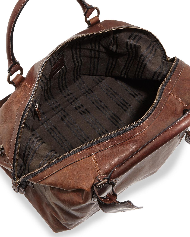 Frye Logan Mens Leather Overnight Bag in Brown for Men - Lyst
