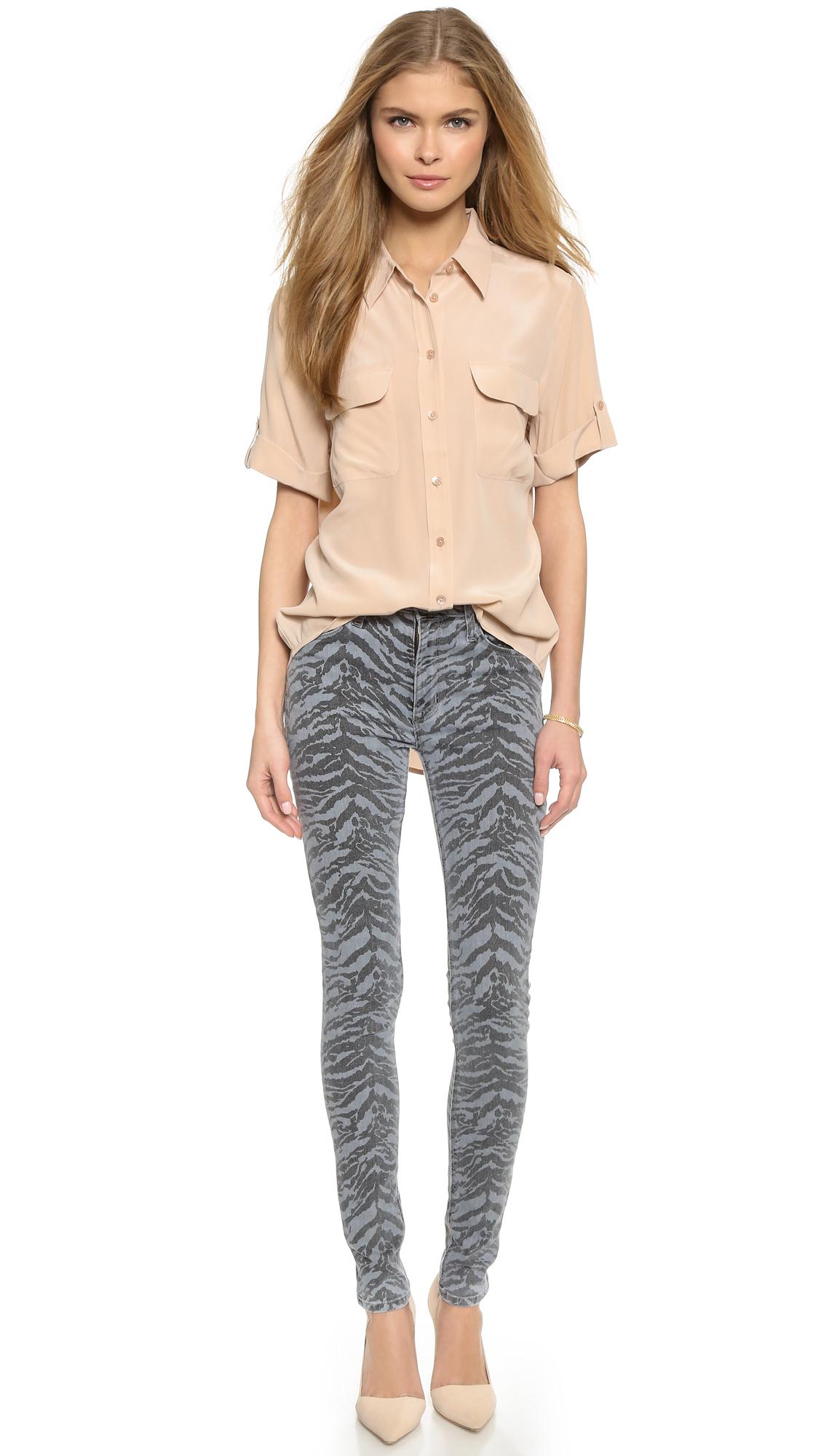 Hudson Jeans Barbara High Waisted Super Skinny Jeans