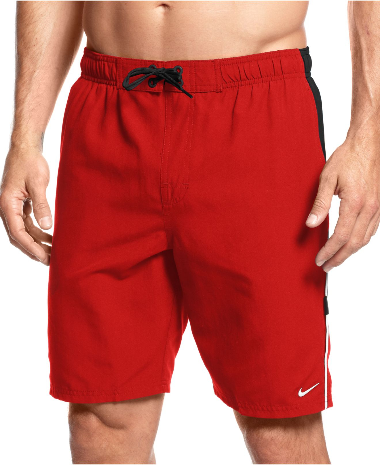 be658b3c18ca2 Nike Big And Tall Volley Swim Trunks in Red for Men - Lyst