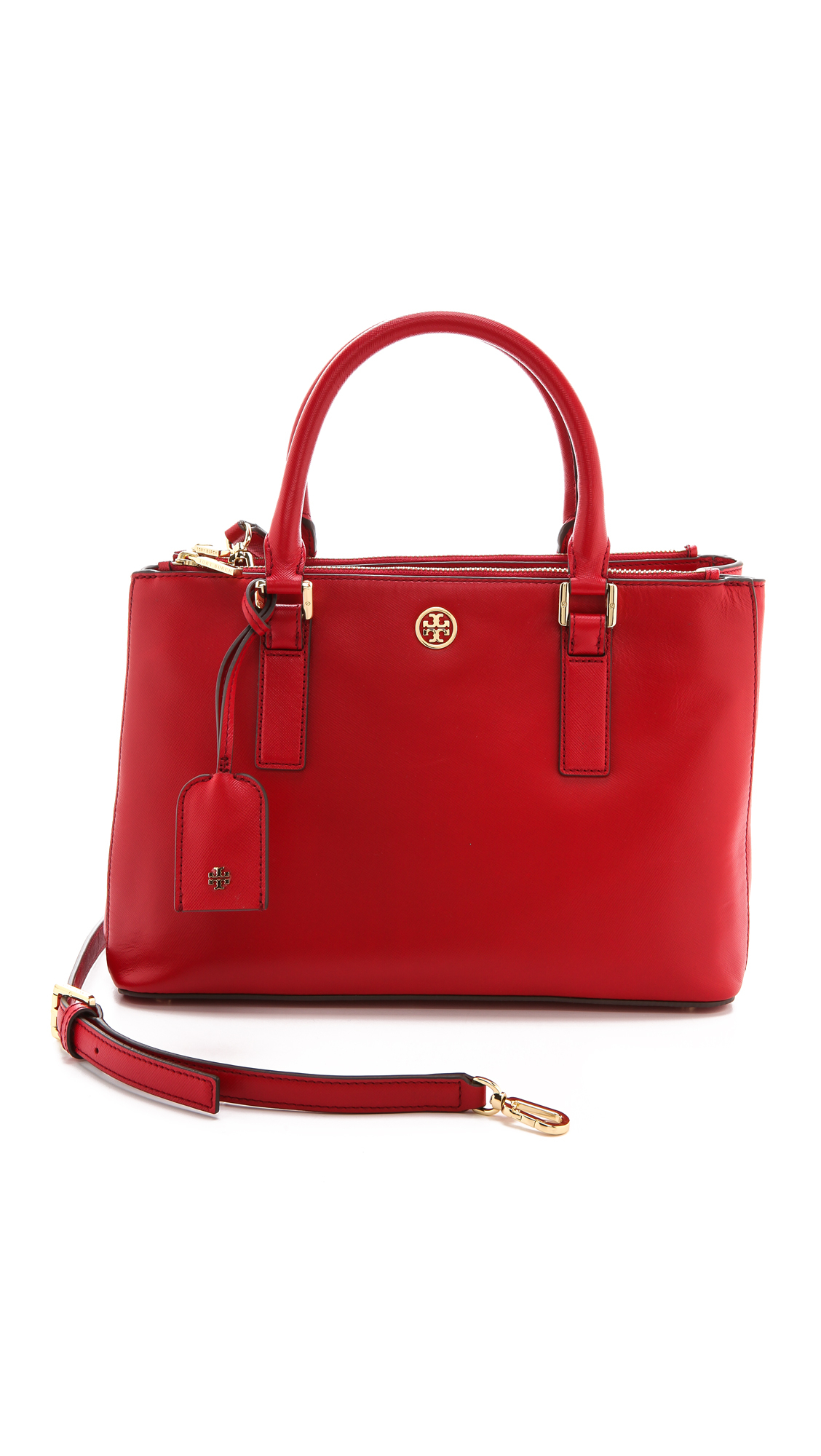 Lyst Tory Burch Robinson Mini Double Zip Tote Kir